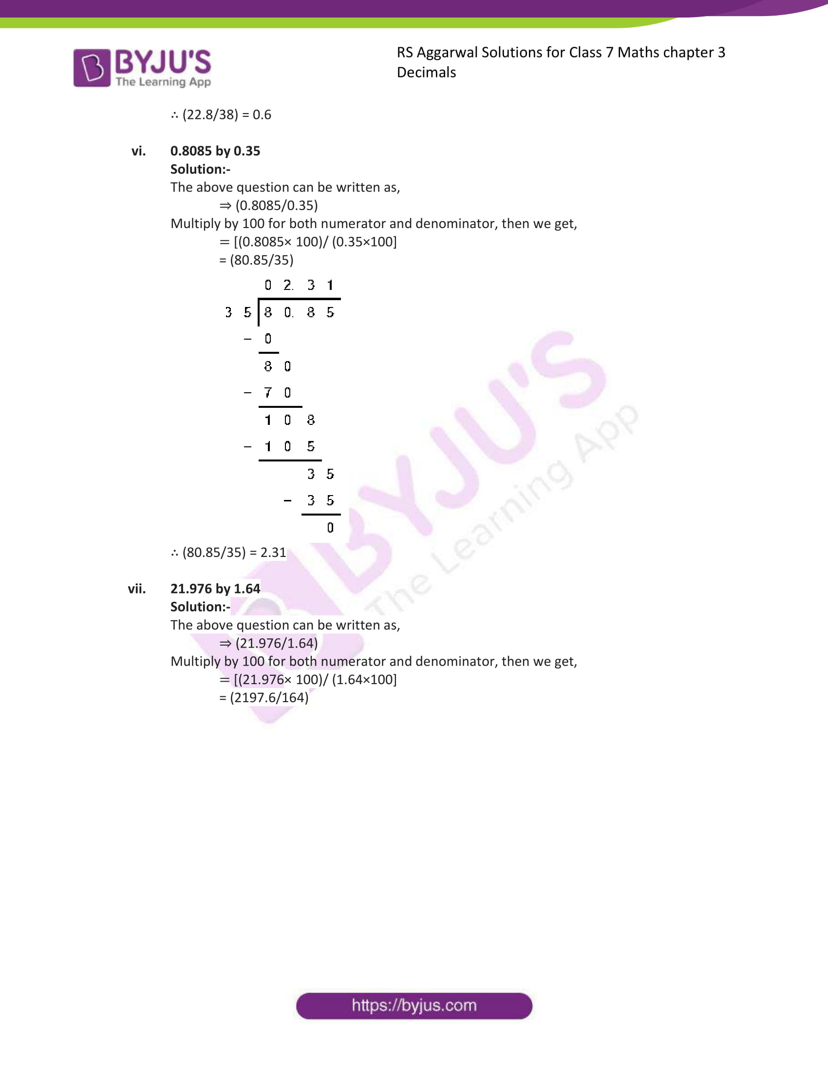 rs aggarwal solution class 7 maths chapter ex 3d