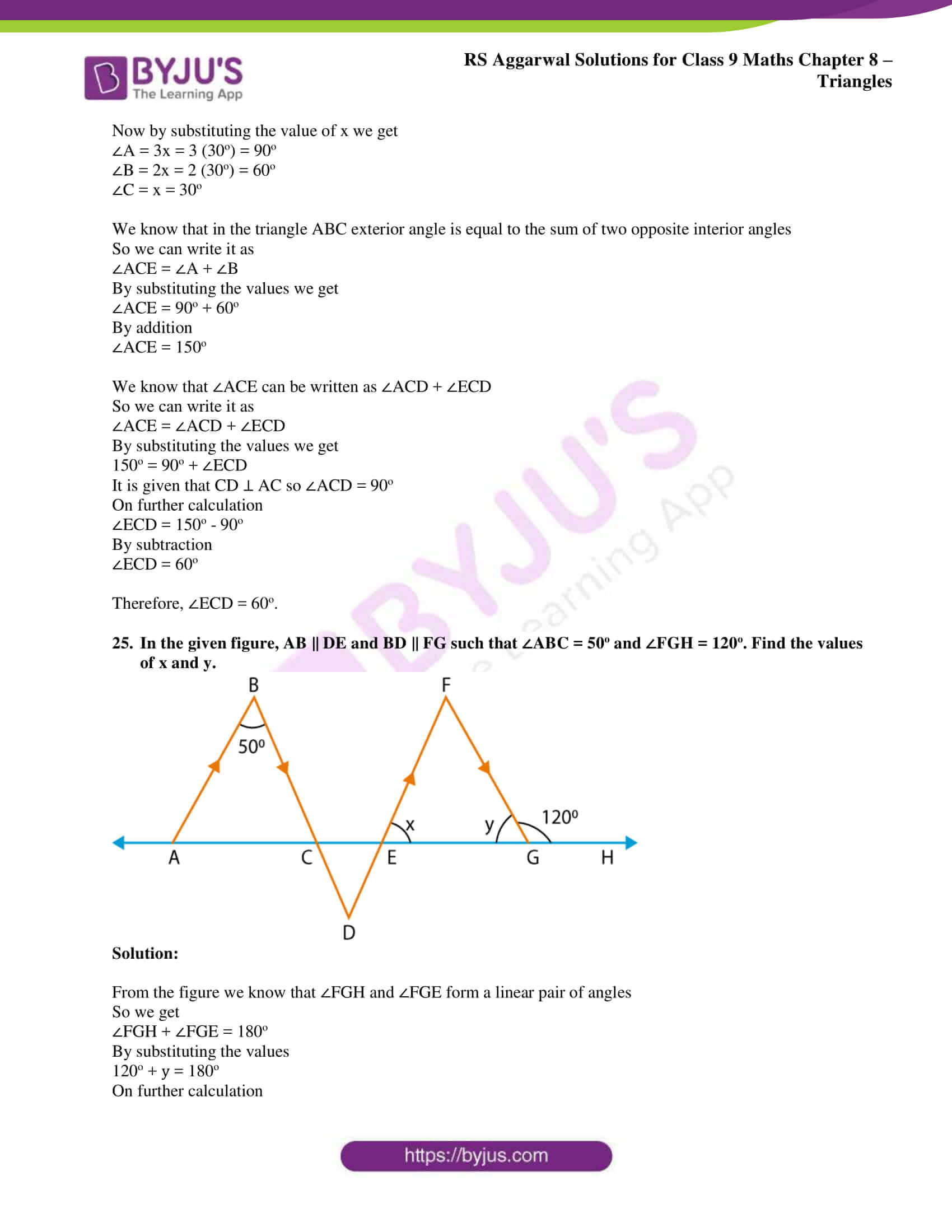 rs aggarwal solution class 9 maths chapter 8