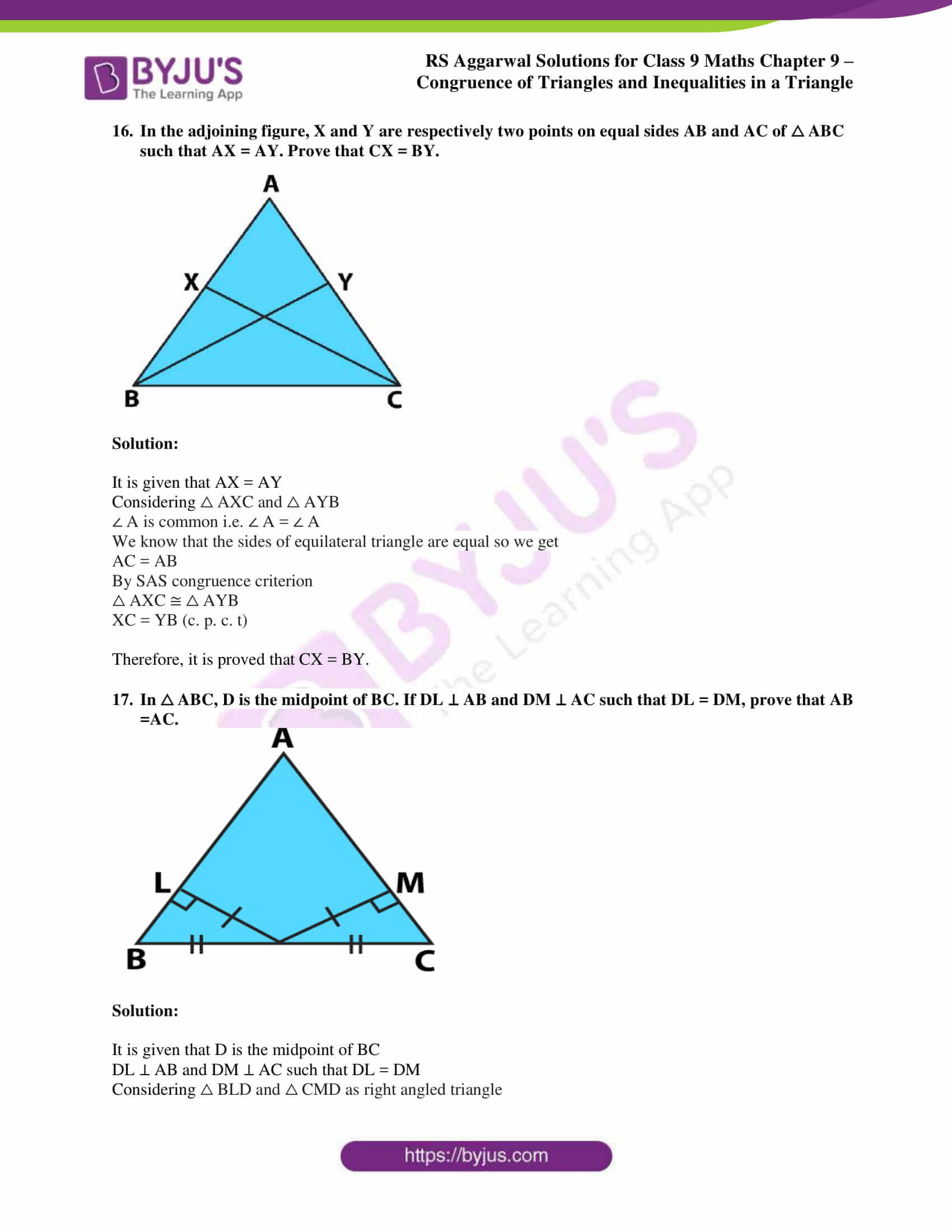 rs aggarwal solution class 9 maths chapter 9A