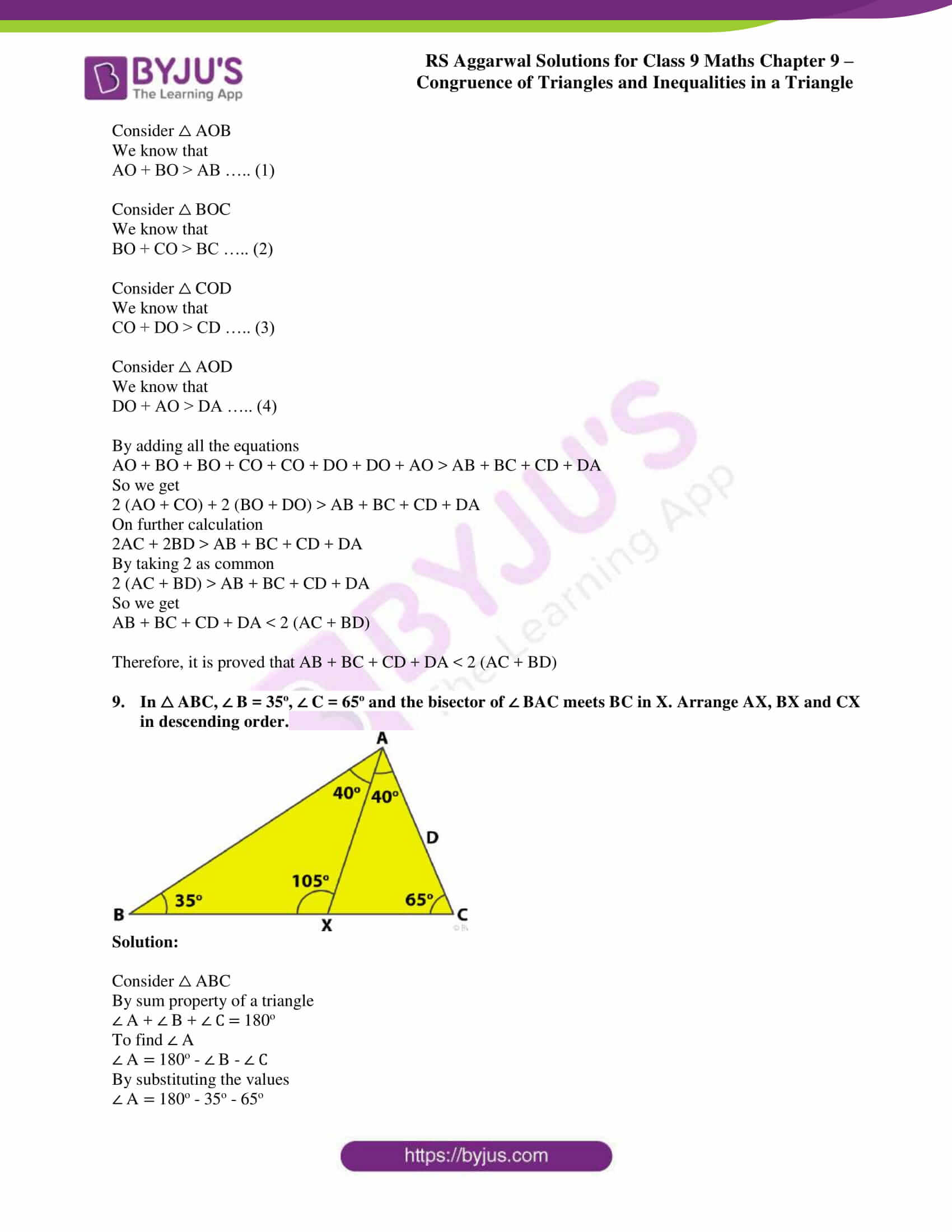 rs aggarwal solution class 9 maths chapter 9B