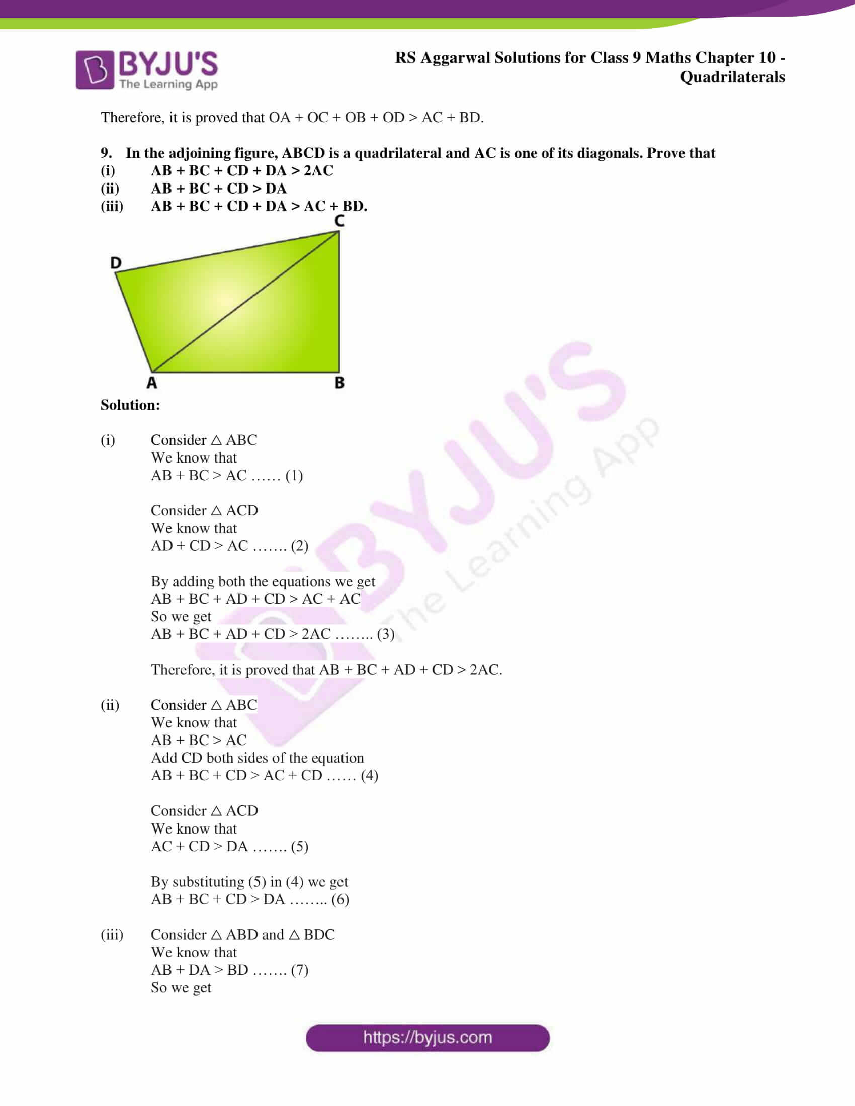 rs aggarwal solution class 9 maths chapter 10A