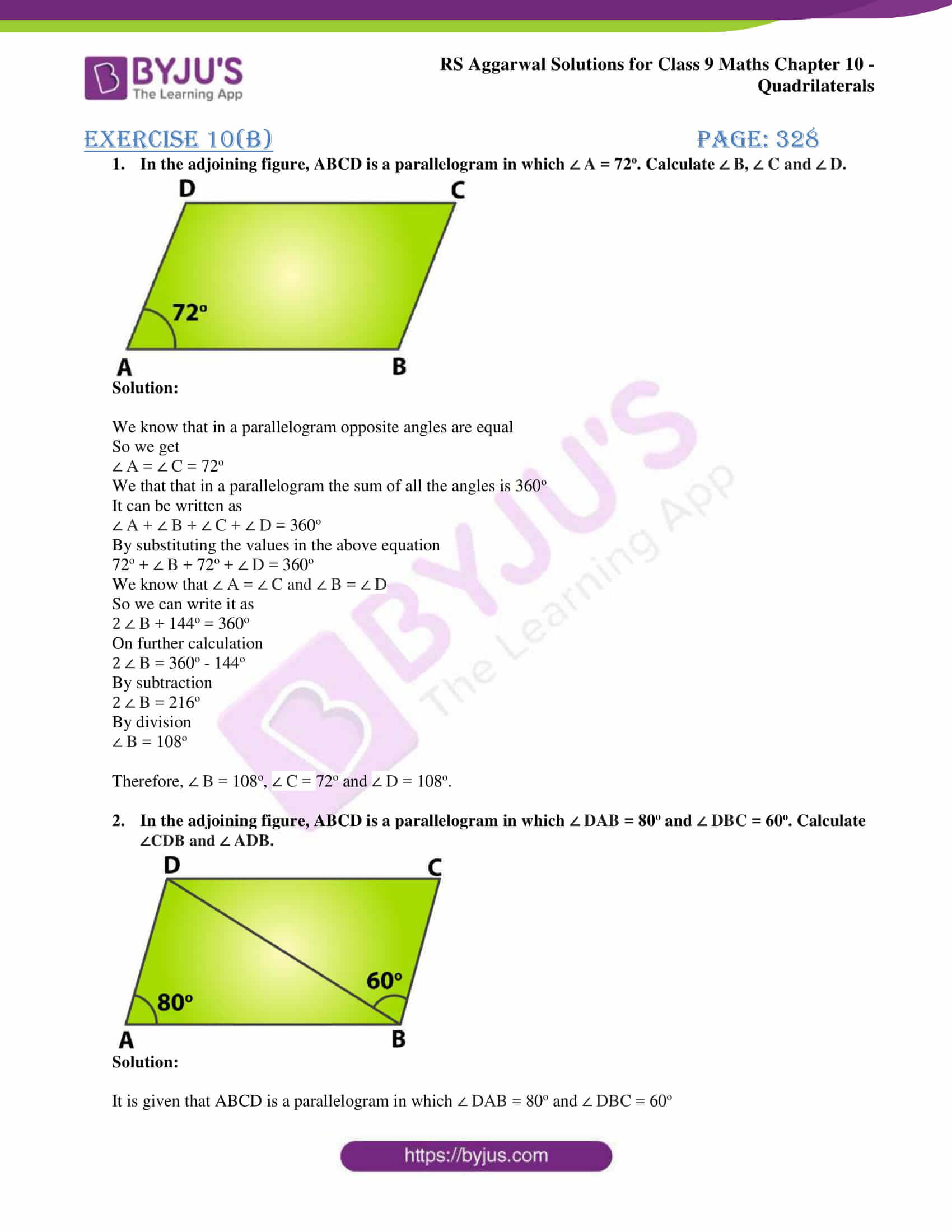 rs aggarwal solution class 9 maths chapter 10B