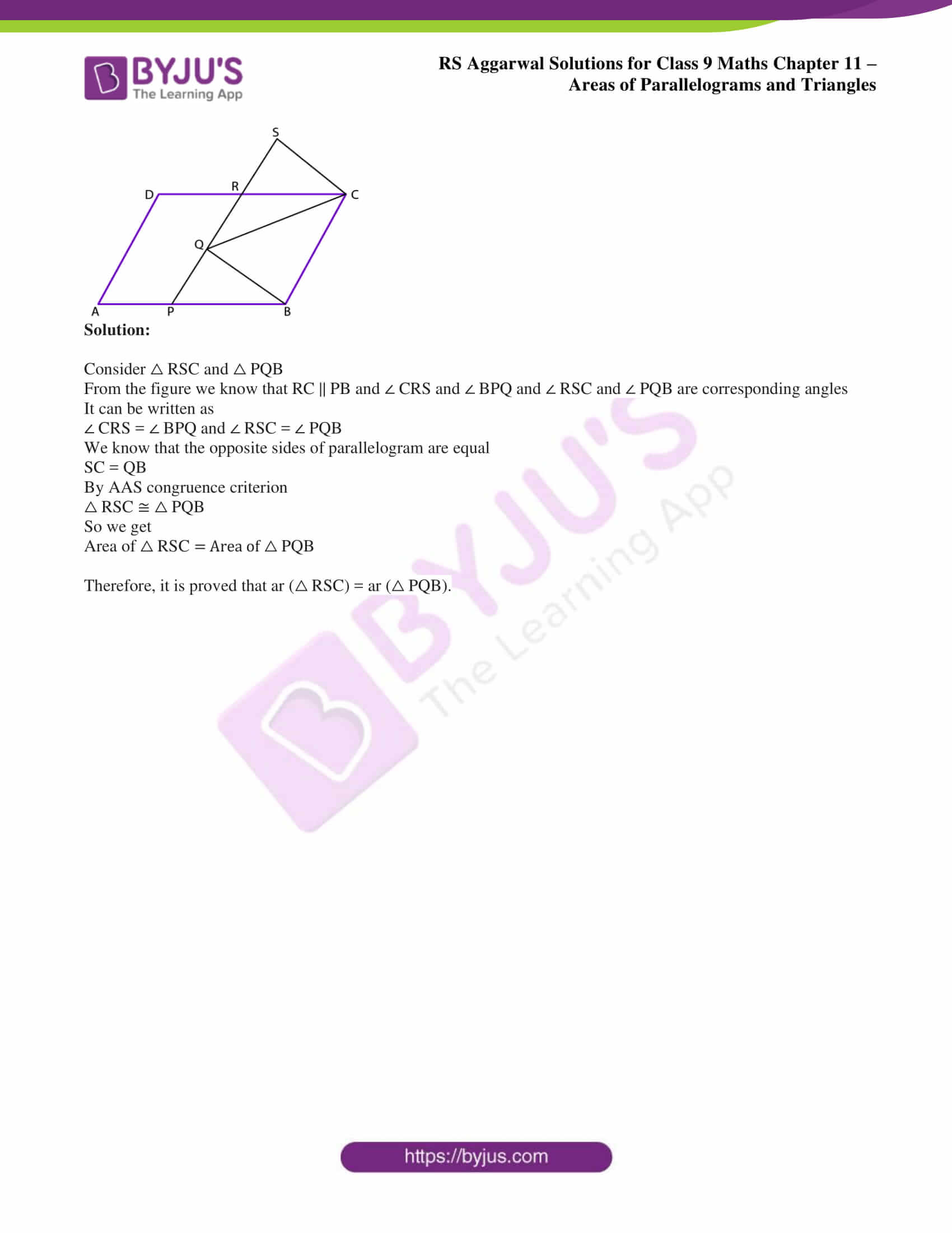 rs aggarwal solution class 9 maths chapter 11