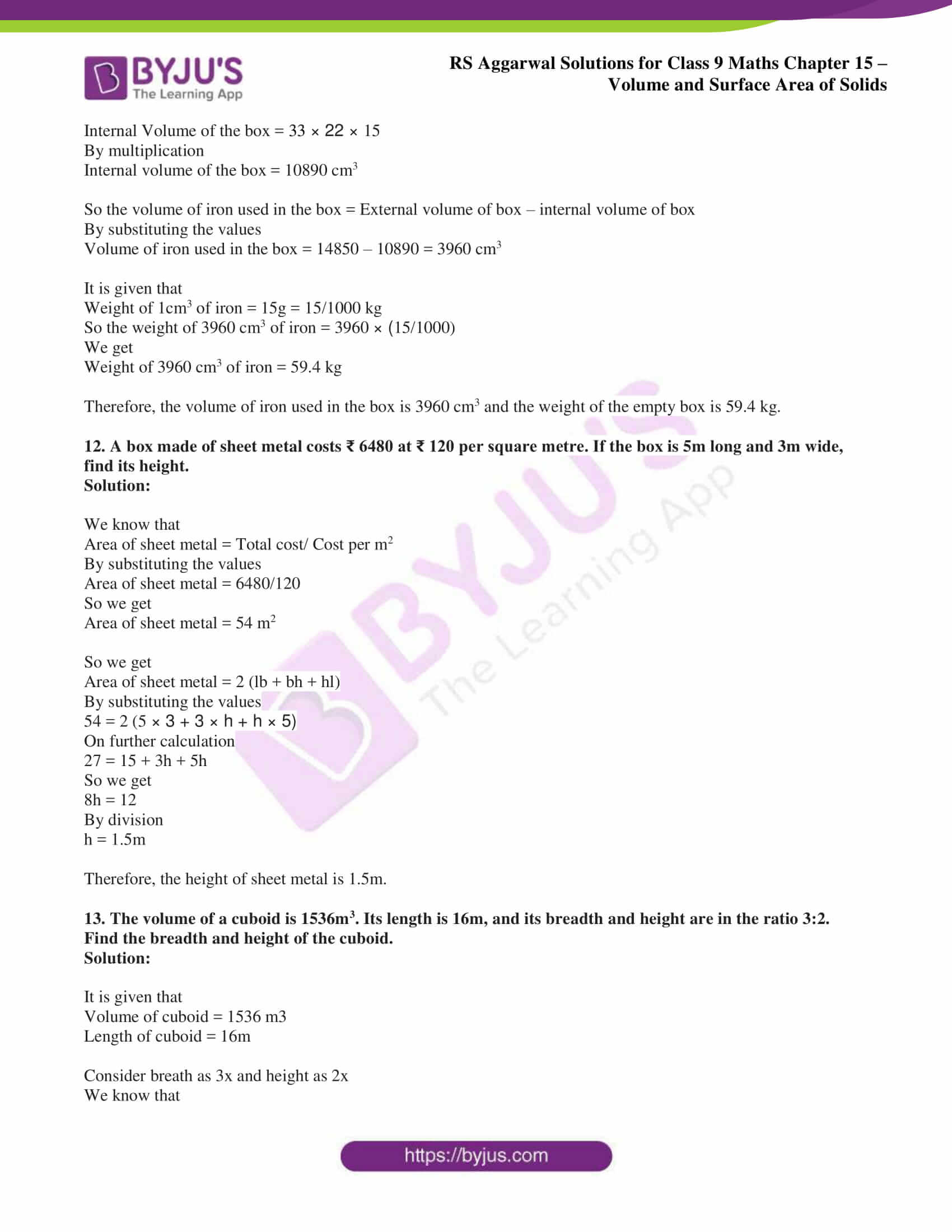 rs aggarwal solution class 9 maths chapter 15A