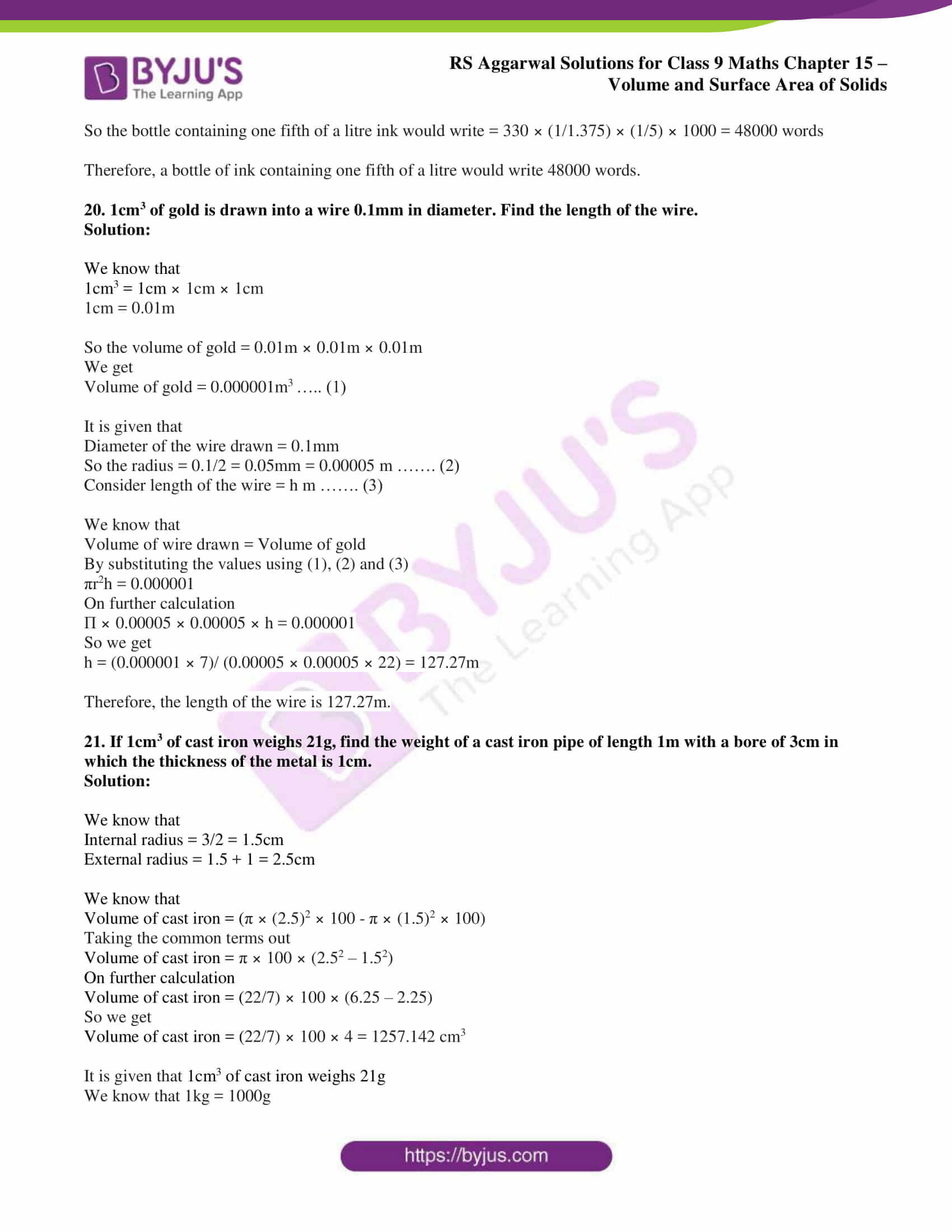 rs aggarwal solution class 9 maths chapter 15B