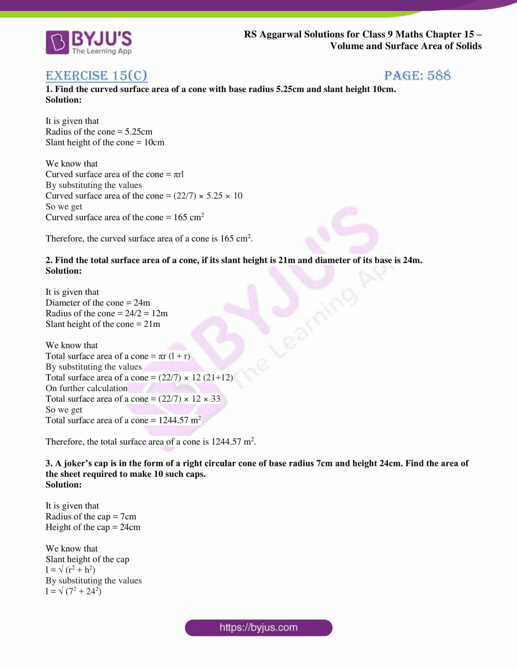 rs aggarwal solution class 9 maths chapter 15C