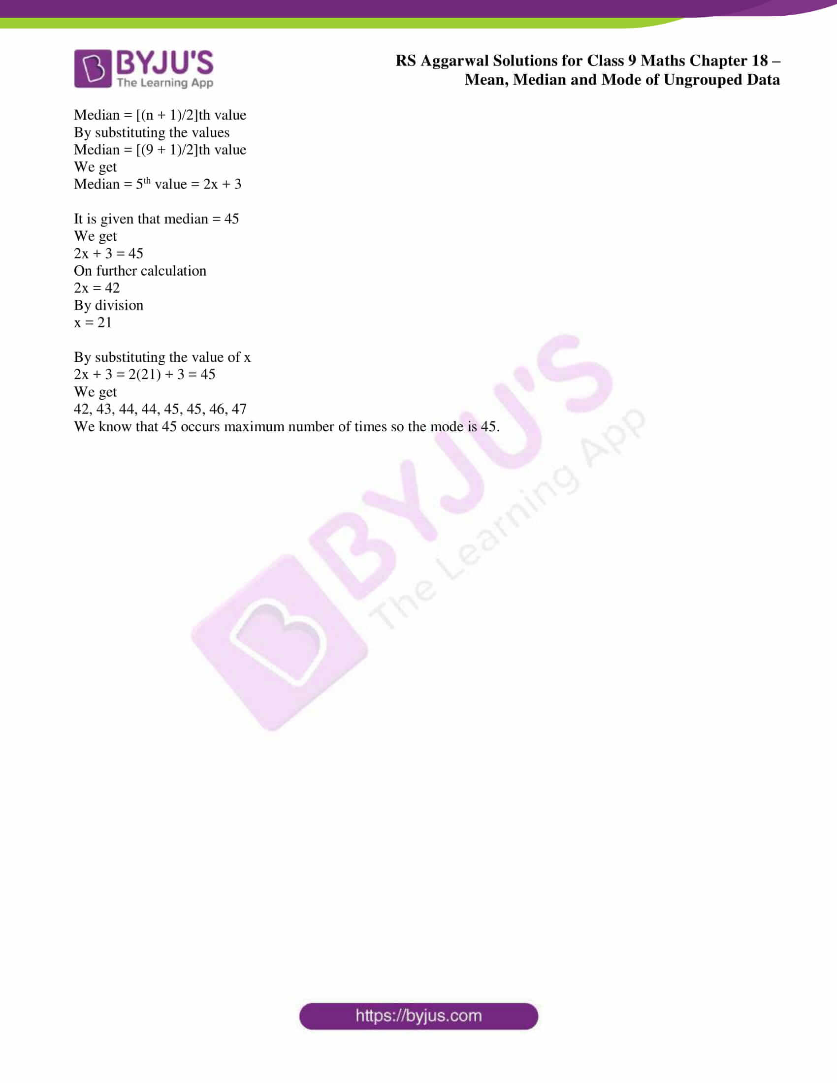 rs aggarwal solution class 9 maths chapter 18D