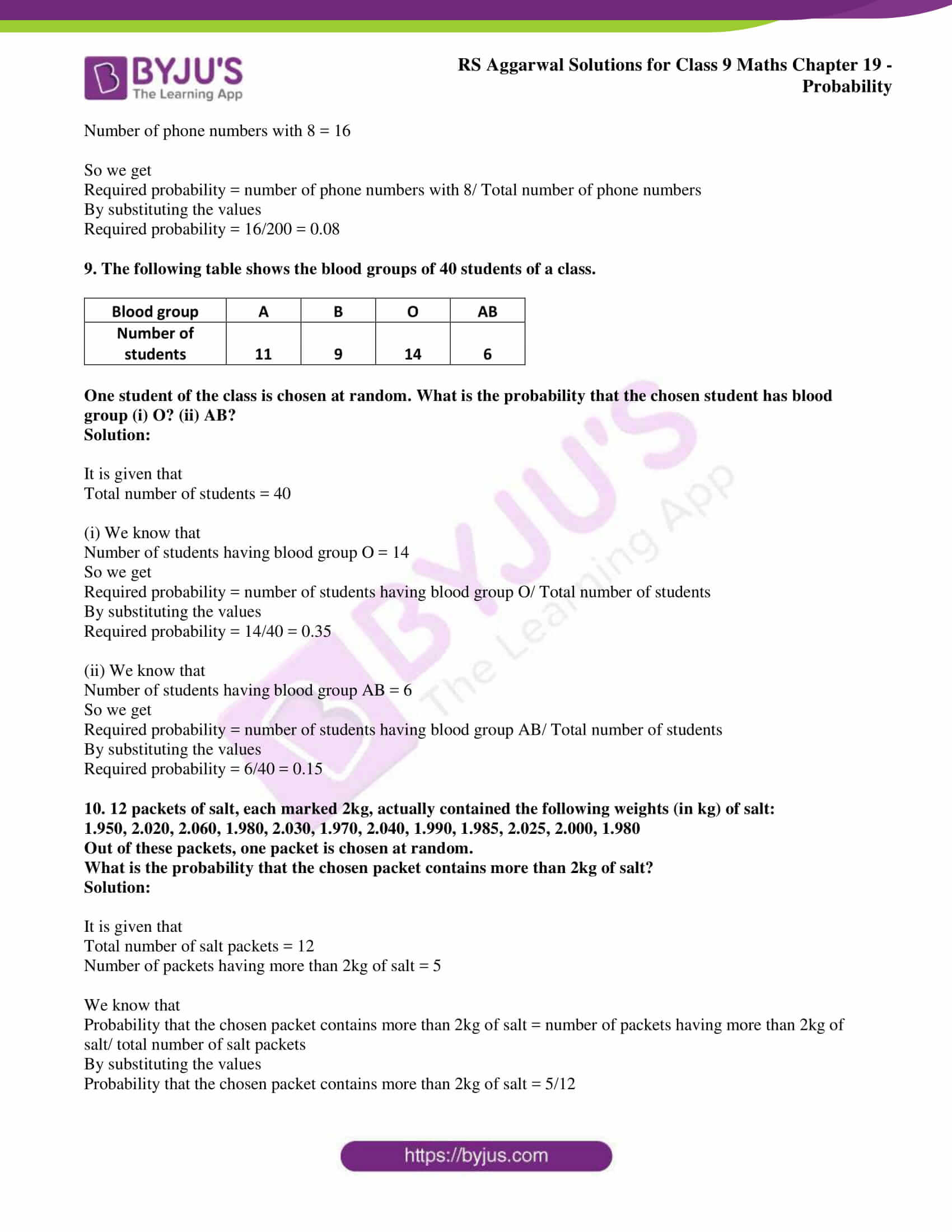 rs aggarwal solution class 9 maths chapter 19