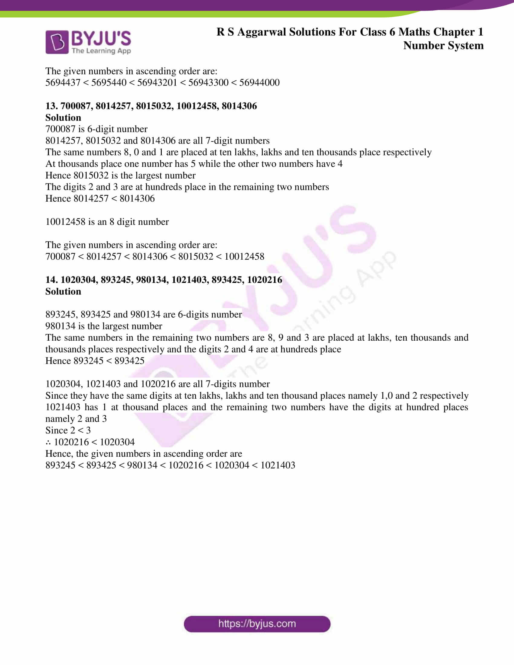 rs aggarwal solution class 6 maths chapter 1