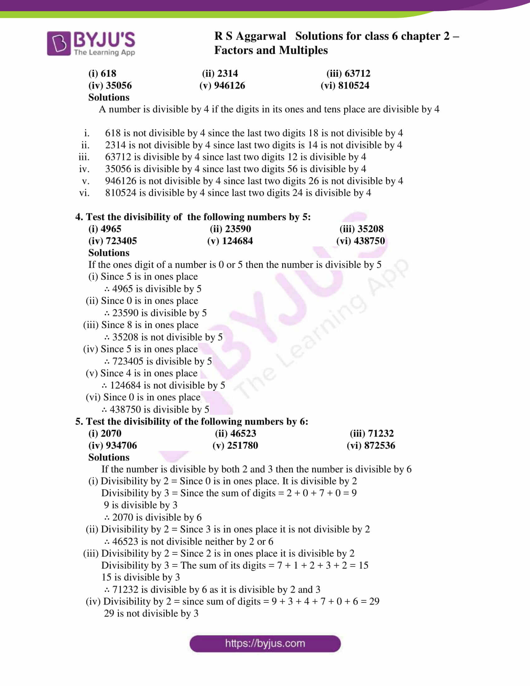 rs aggarwal solution class 6 maths chapter 2