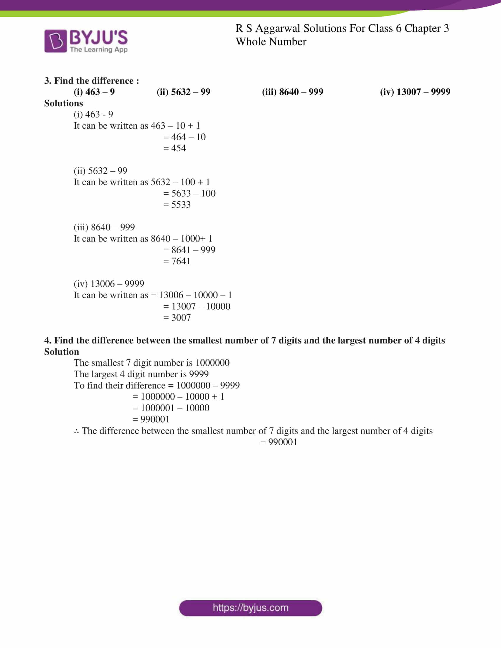 rs aggarwal solution class 6 maths chapter 3