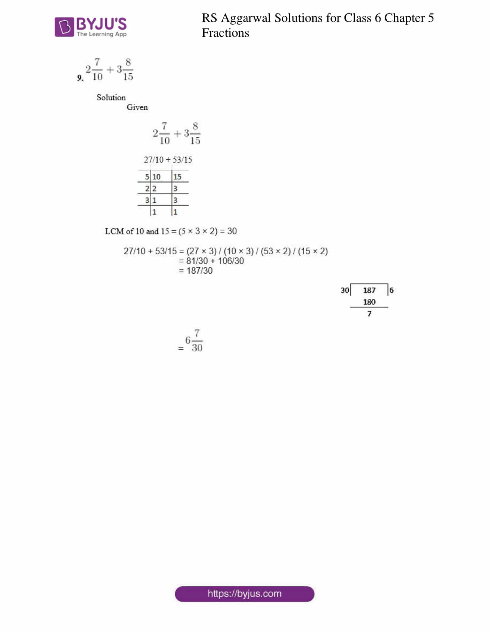 rs aggarwal solution class 6 maths chapter 5 ex 5e
