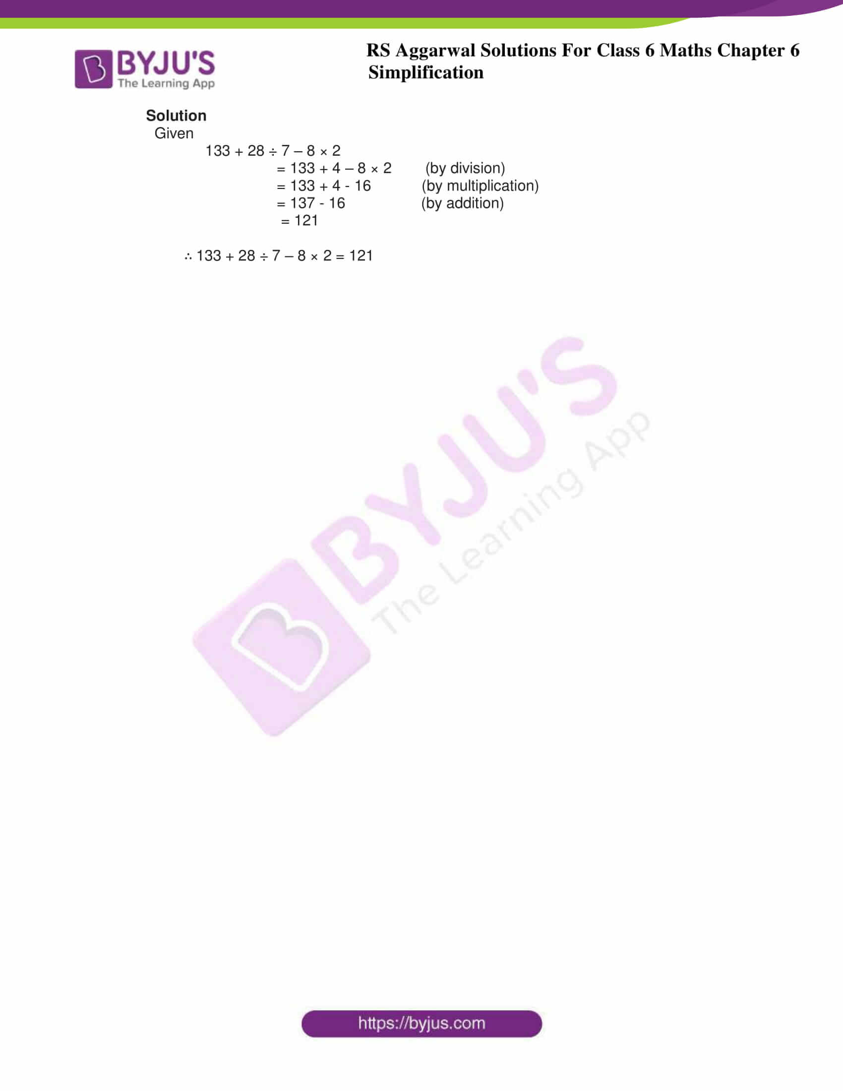 rs aggarwal solution class 6 maths chapter 6