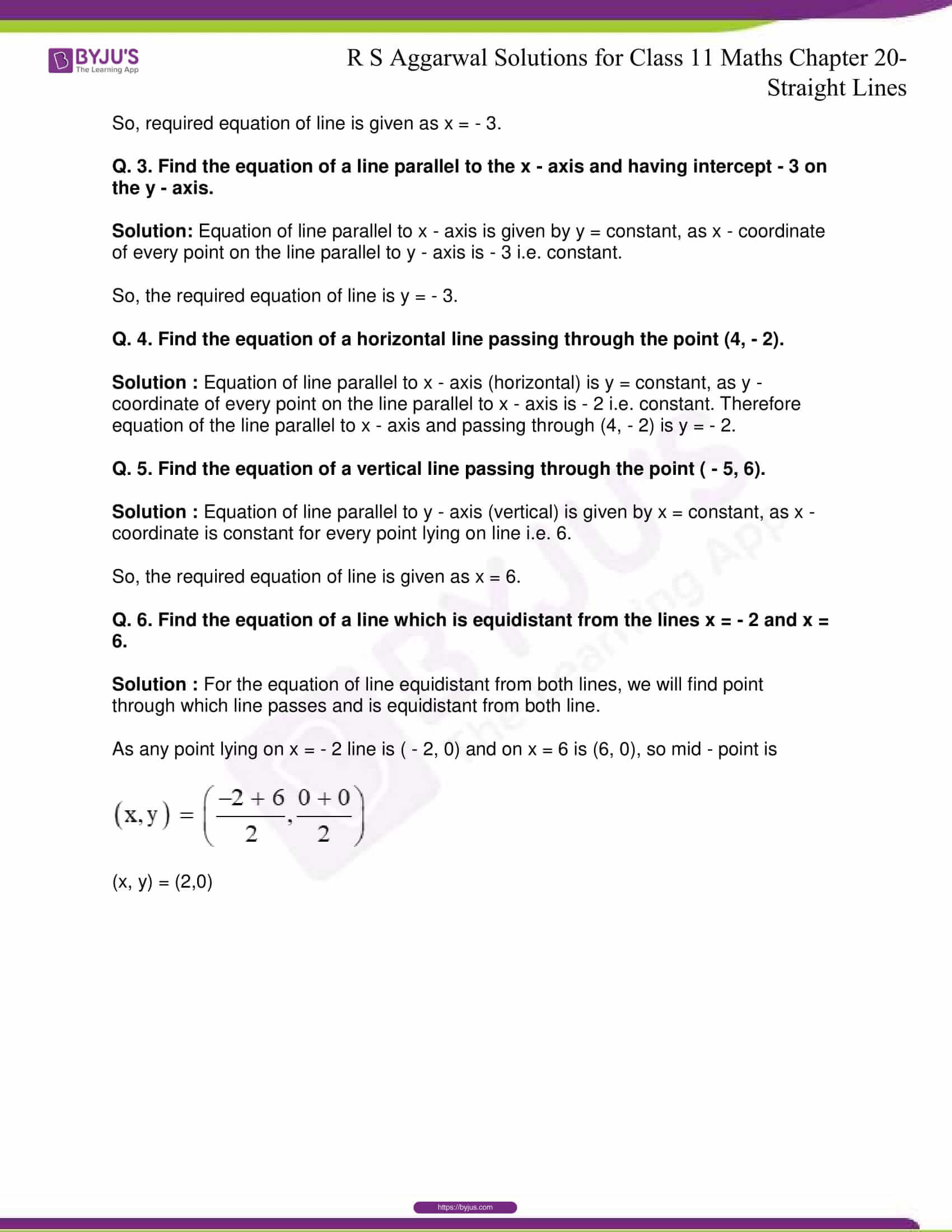 rs aggarwal solution class 11 maths chapter 20