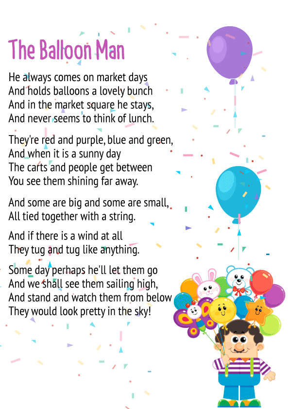 The Balloon Man Poem