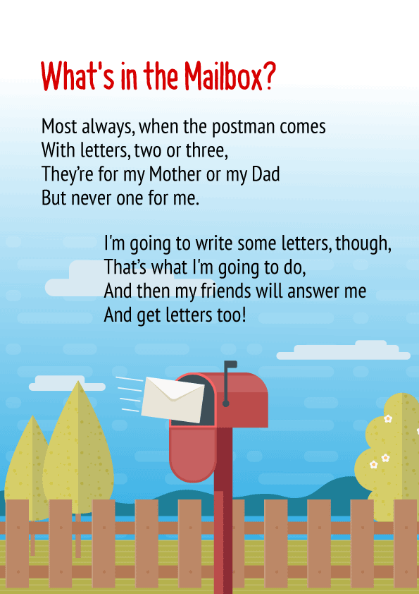 What's in the Mailbox Poem