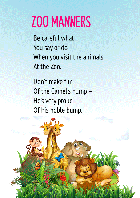 Zoo Manners Poem 1