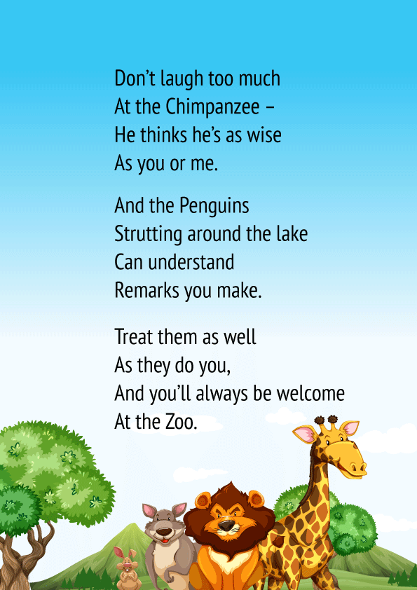 Zoo Manners Poem 2