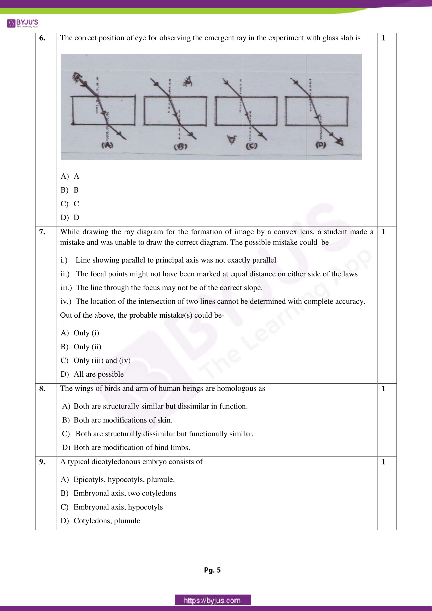 cbse class 10 science sample paper solution sa 1 set 3