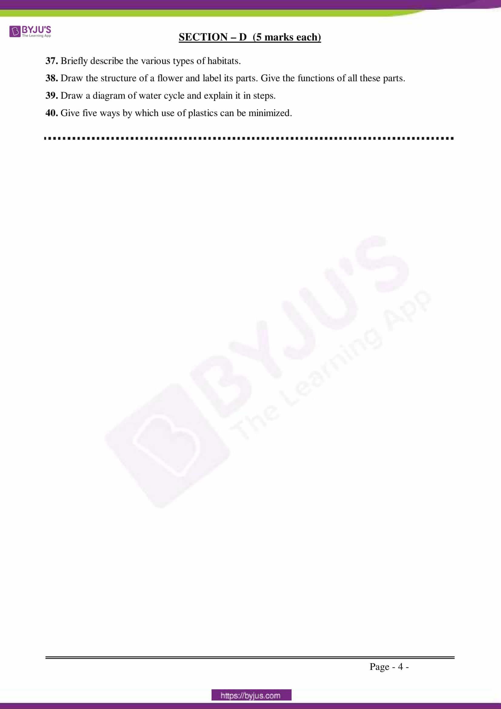 CBSE Sample Paper Class 6 Science Set 1 3
