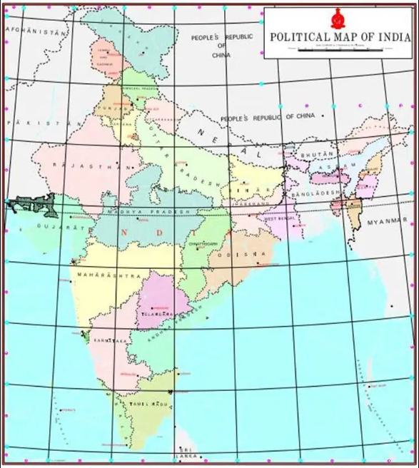 Political Map of India 2019