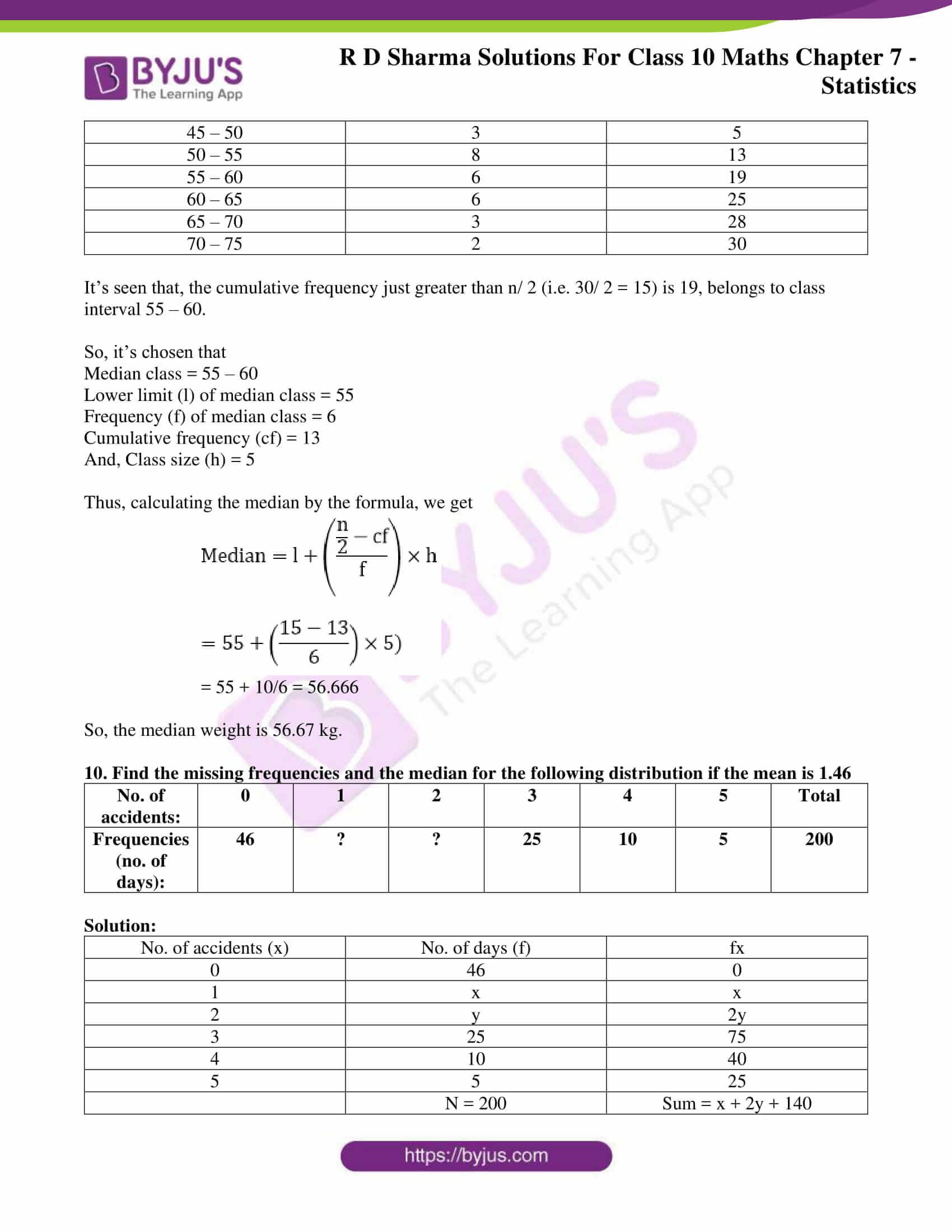 RD Sharma Solutions for Class 10 Chapter 7 Statistics Exercise 7.4 24