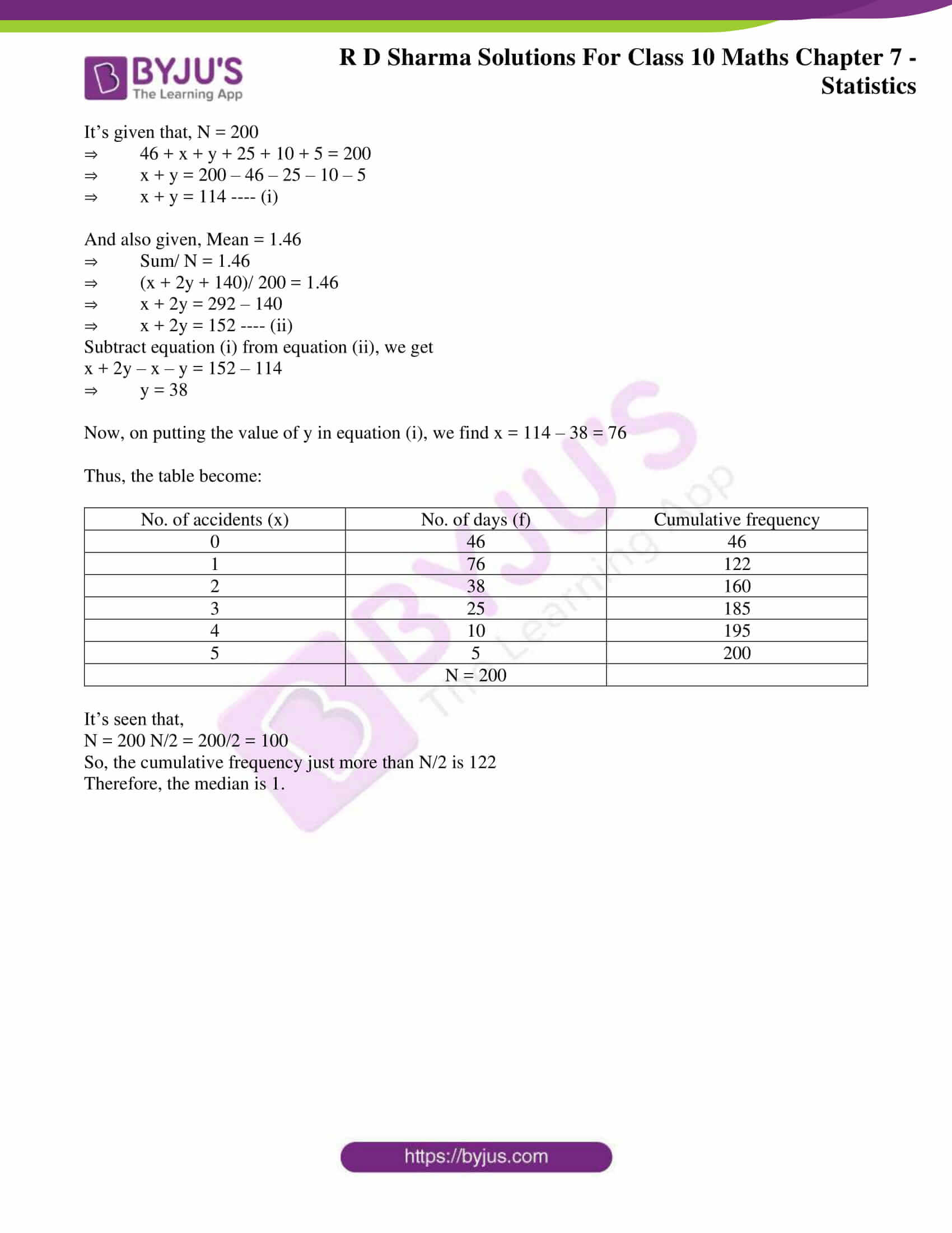 RD Sharma Solutions for Class 10 Chapter 7 Statistics Exercise 7.4 25