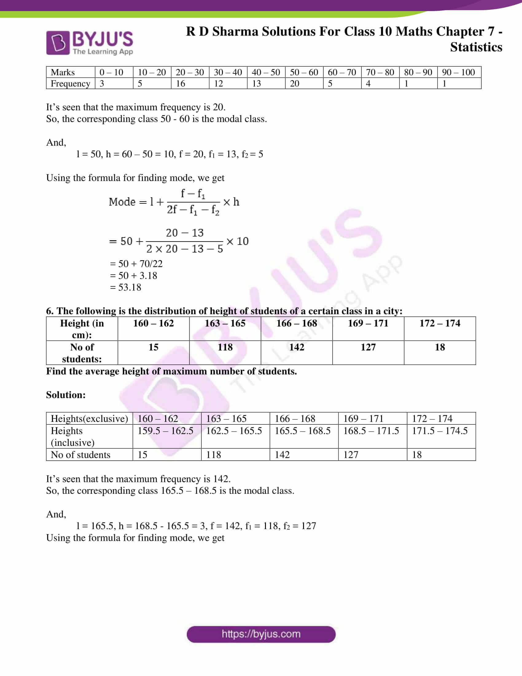 RD Sharma Solutions for Class 10 Chapter 7 Statistics 30