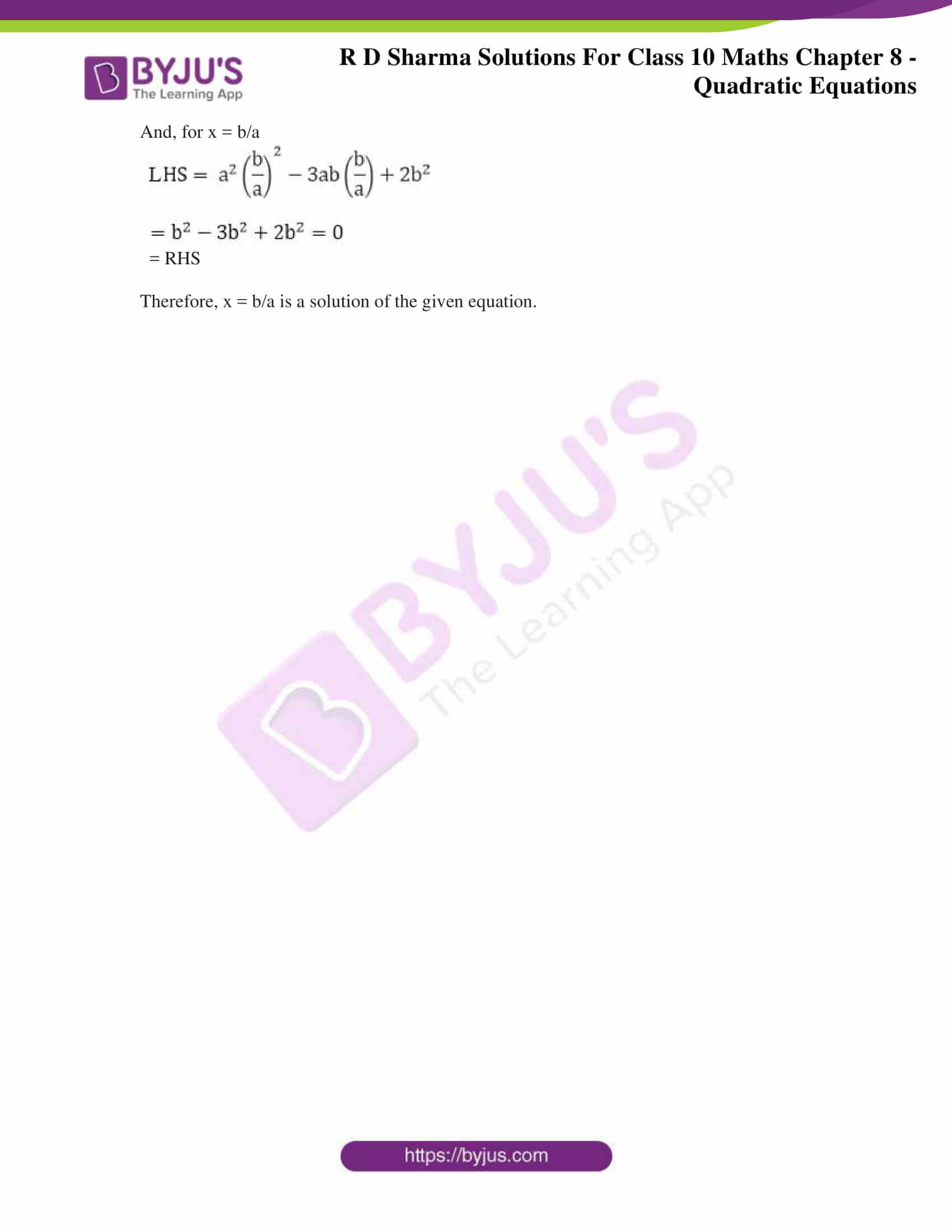 RD Sharma Solutions for Class 10 Chapter 8 Quadratic Equations Exercise 8.1 07