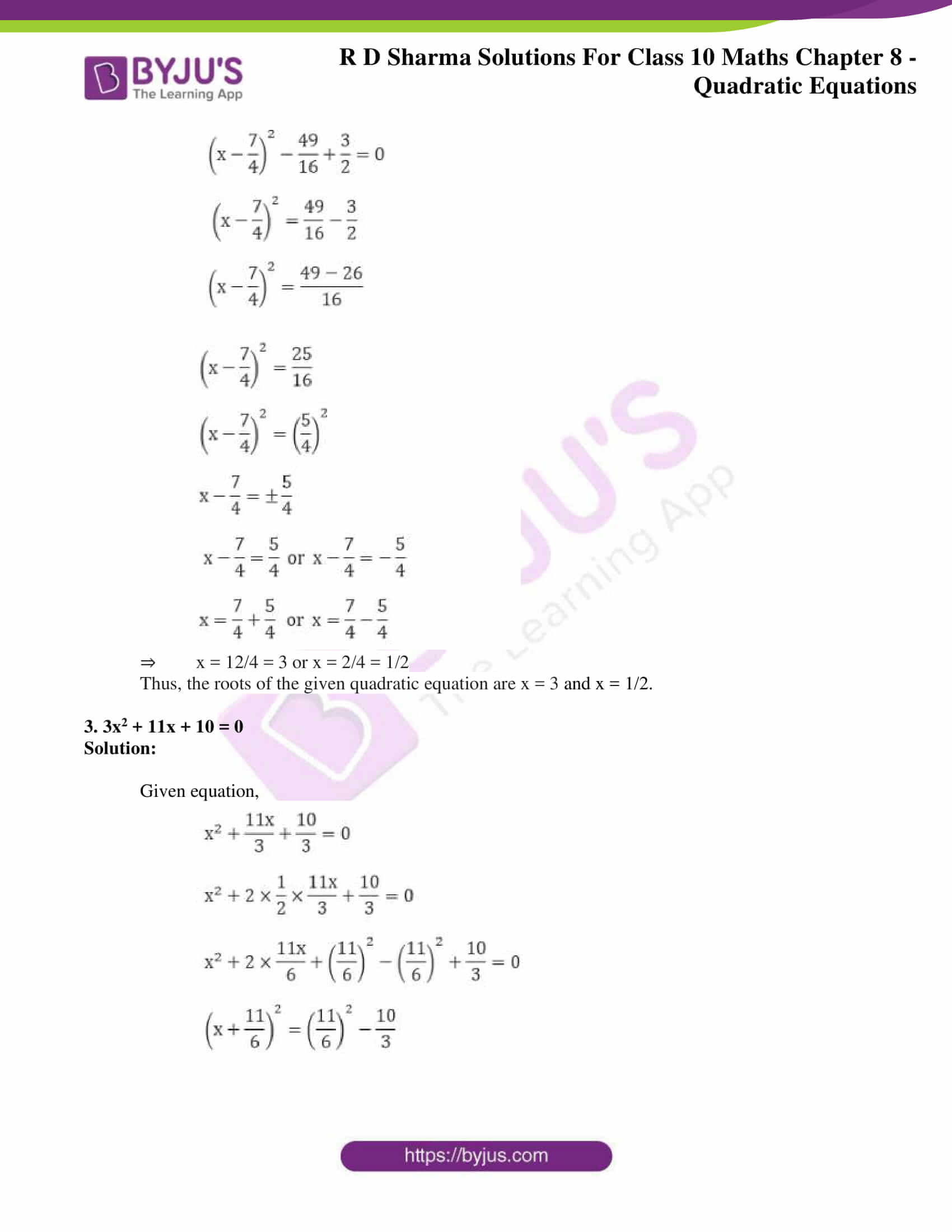 RD Sharma Solutions for Class 10 Chapter 8 Quadratic Equations 25