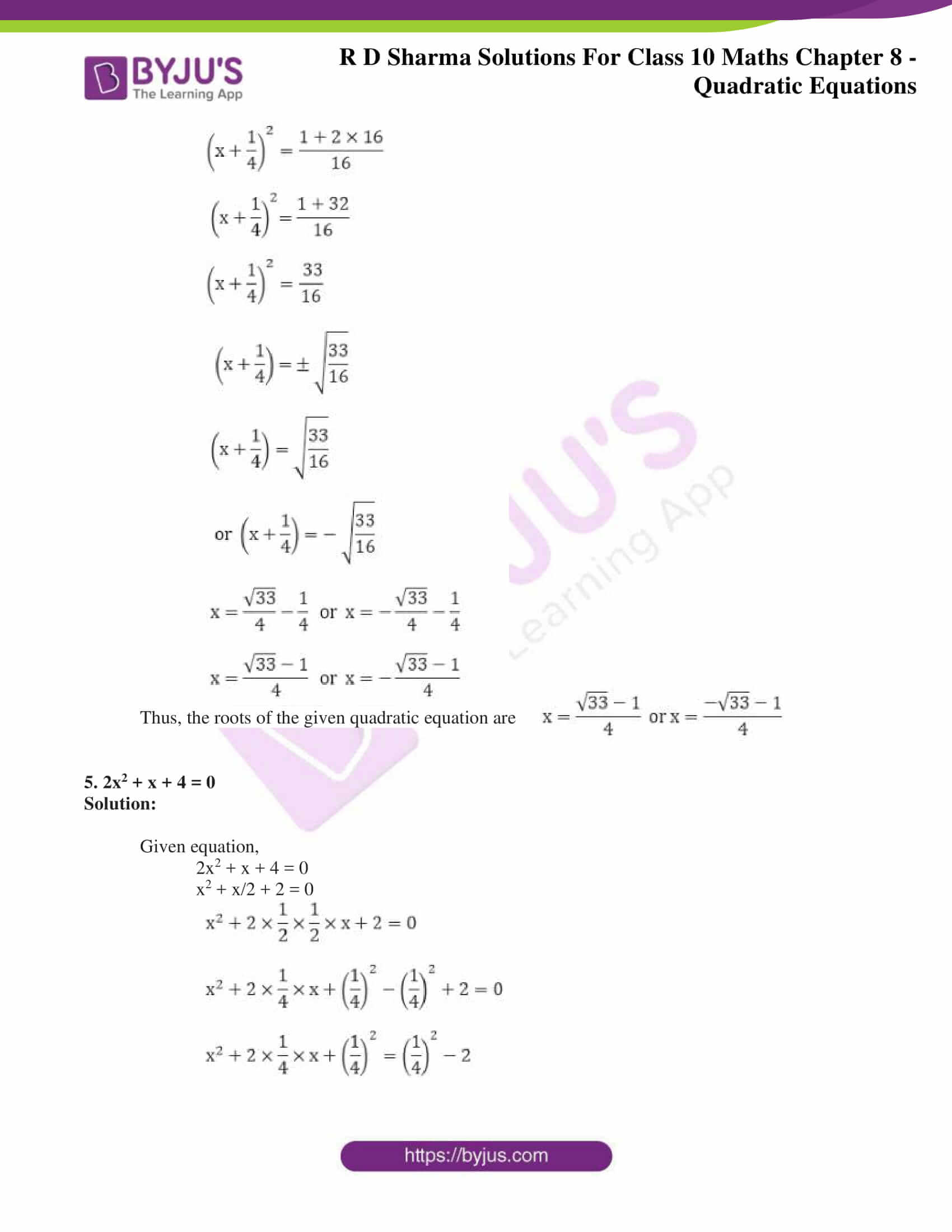 RD Sharma Solutions for Class 10 Chapter 8 Quadratic Equations 27