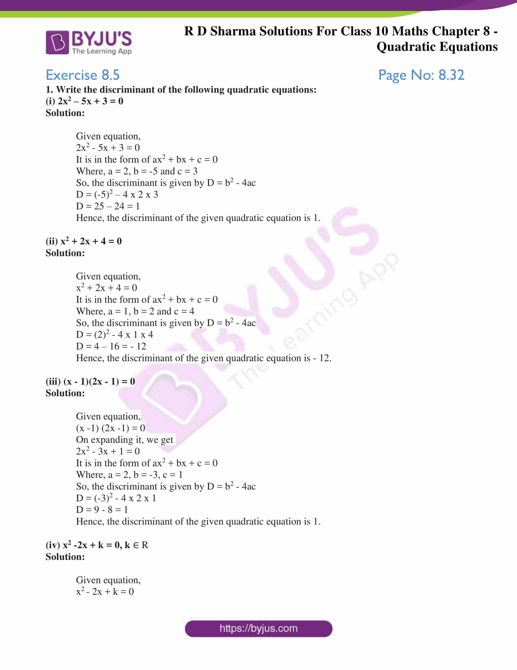 RD Sharma Solutions for Class 10 Chapter 8 Quadratic Equations Exercise 8.5 29