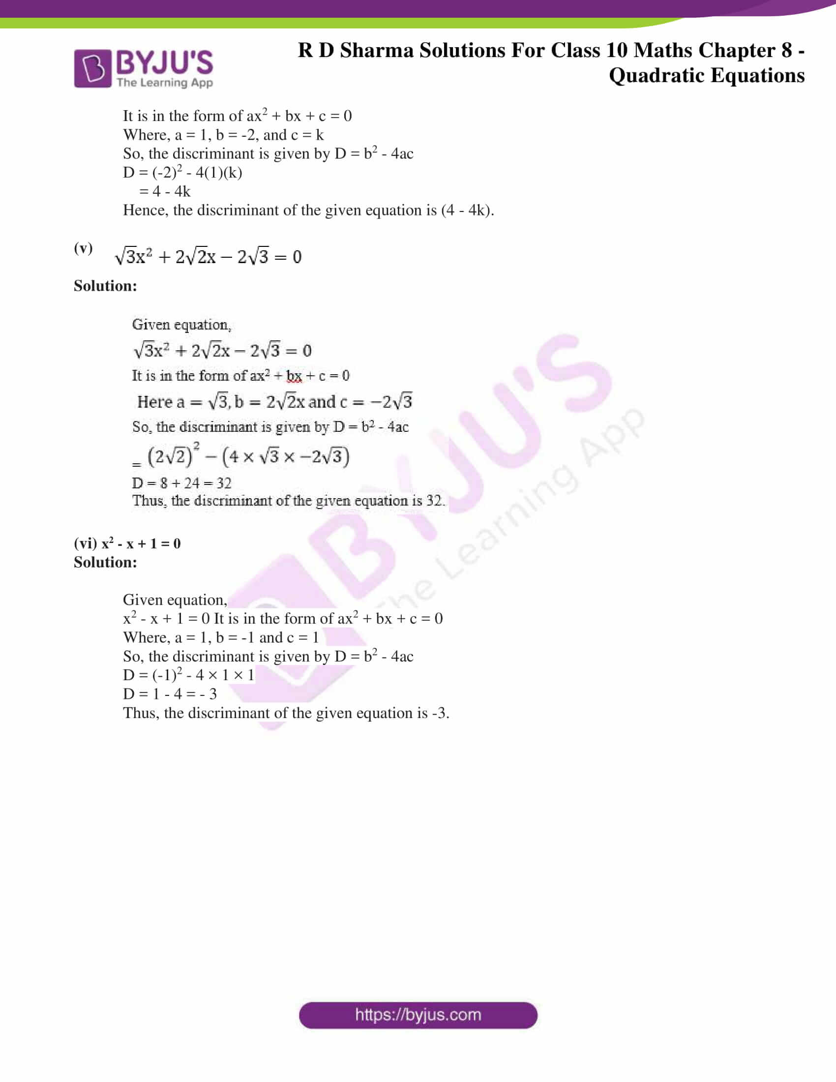 RD Sharma Solutions for Class 10 Chapter 8 Quadratic Equations Exercise 8.5 30