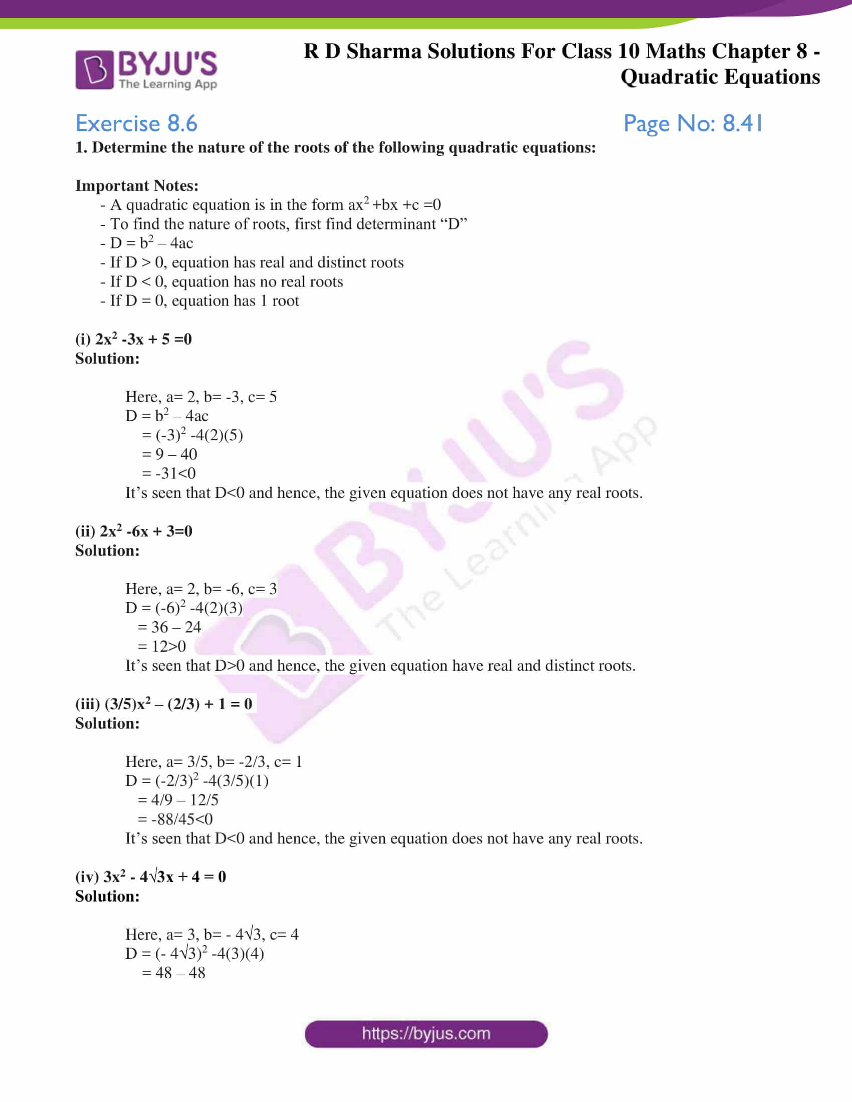 RD Sharma Solutions for Class 10 Chapter 8 Quadratic Equations 31