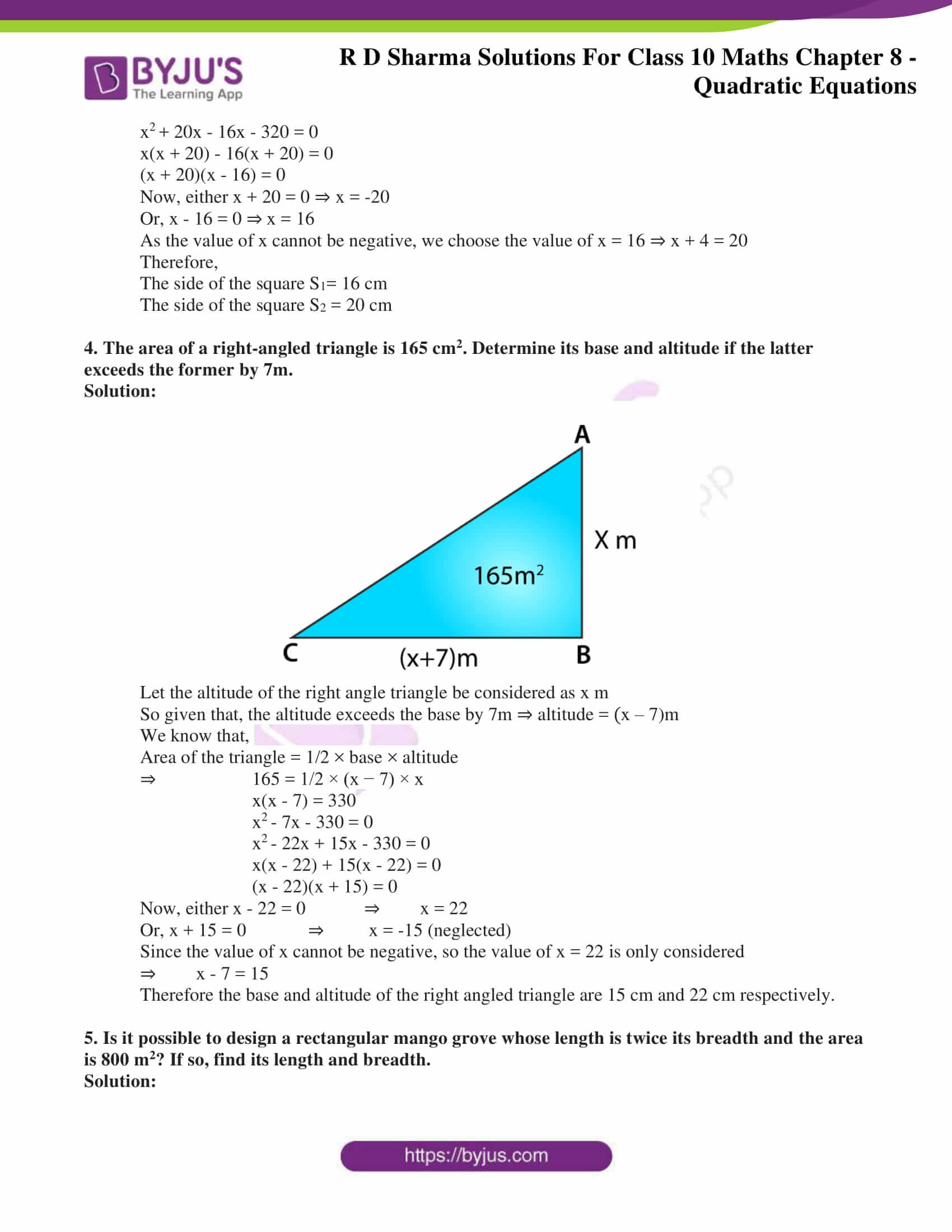 RD Sharma Solutions for Class 10 Chapter 8 Quadratic Equations 68