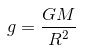 Relation between g and G