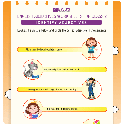Adjective Worksheet for Class 2