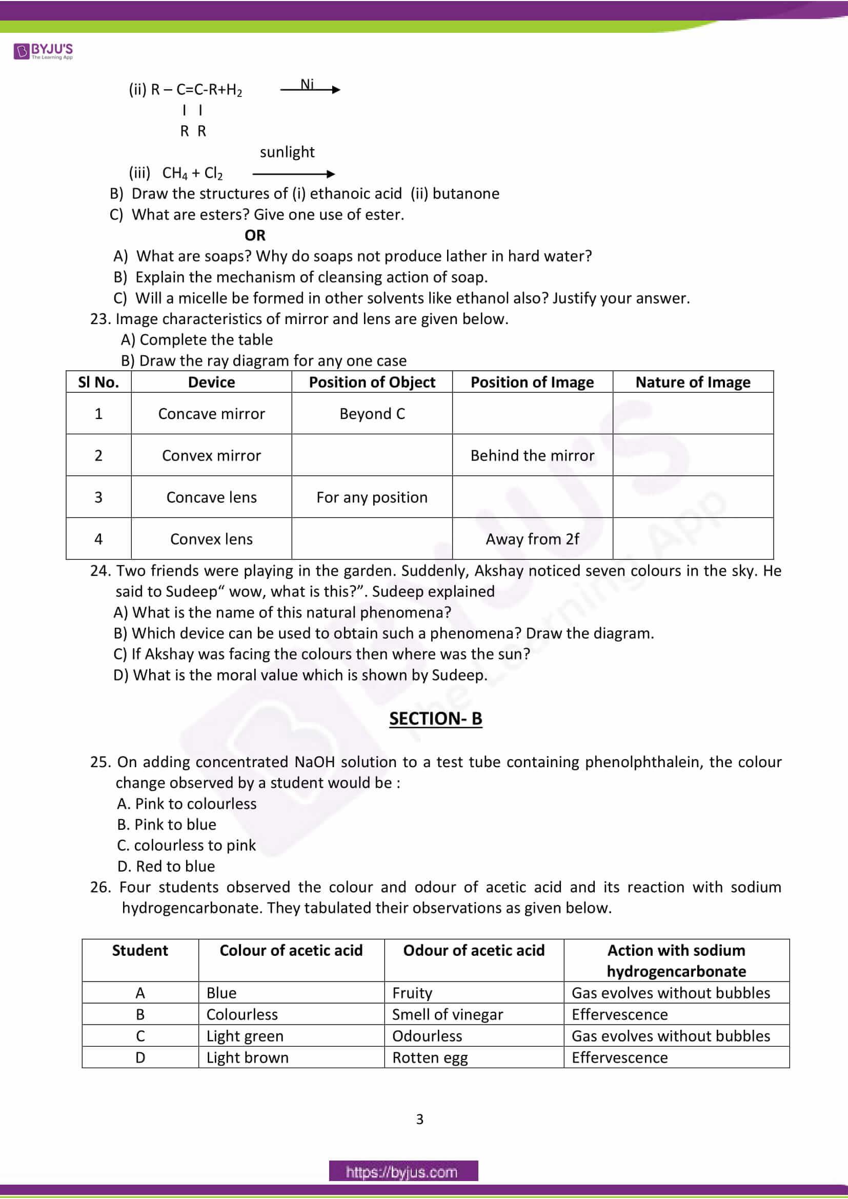 cbse class 10 science sample paper sa 2 set 2