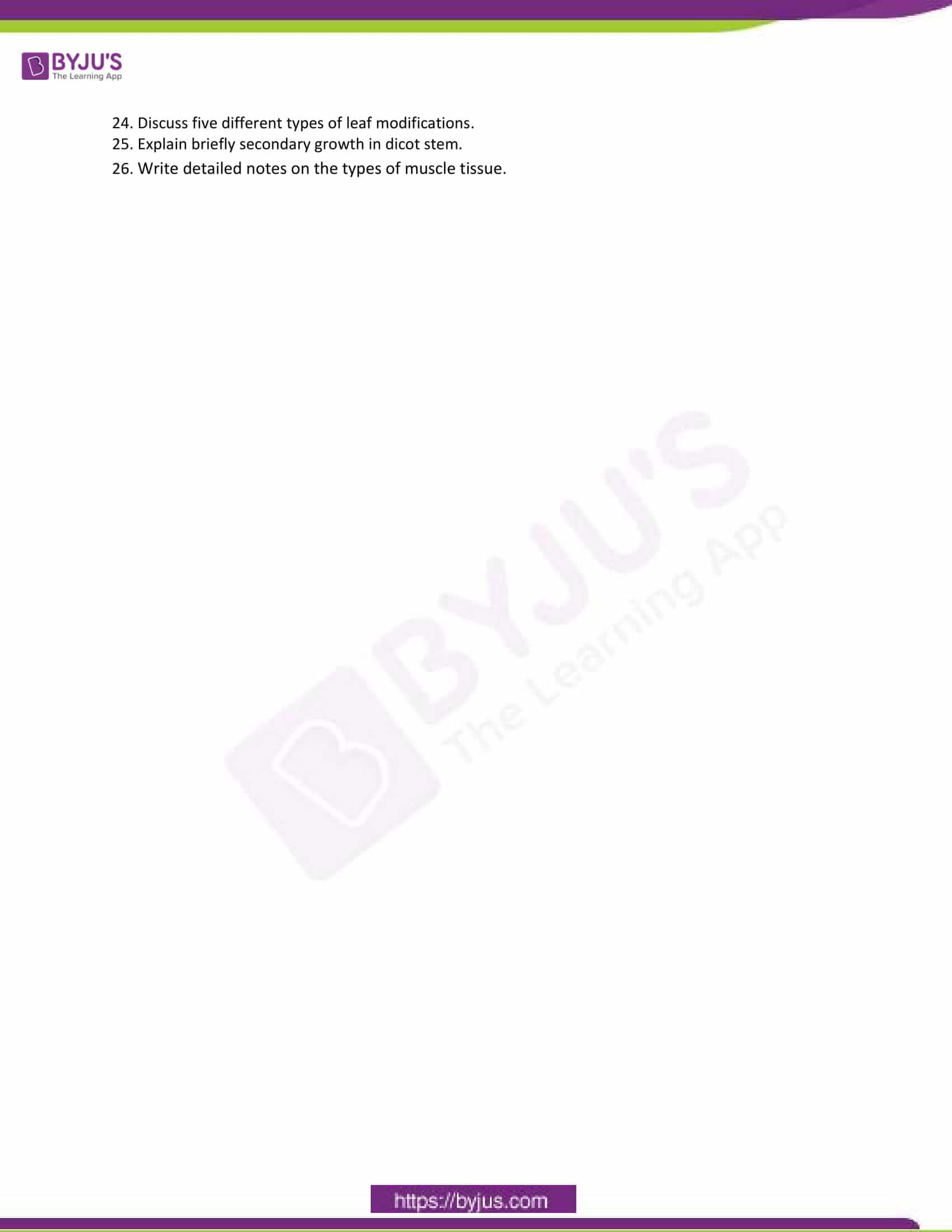 cbse class 11 bio sample paper set 1