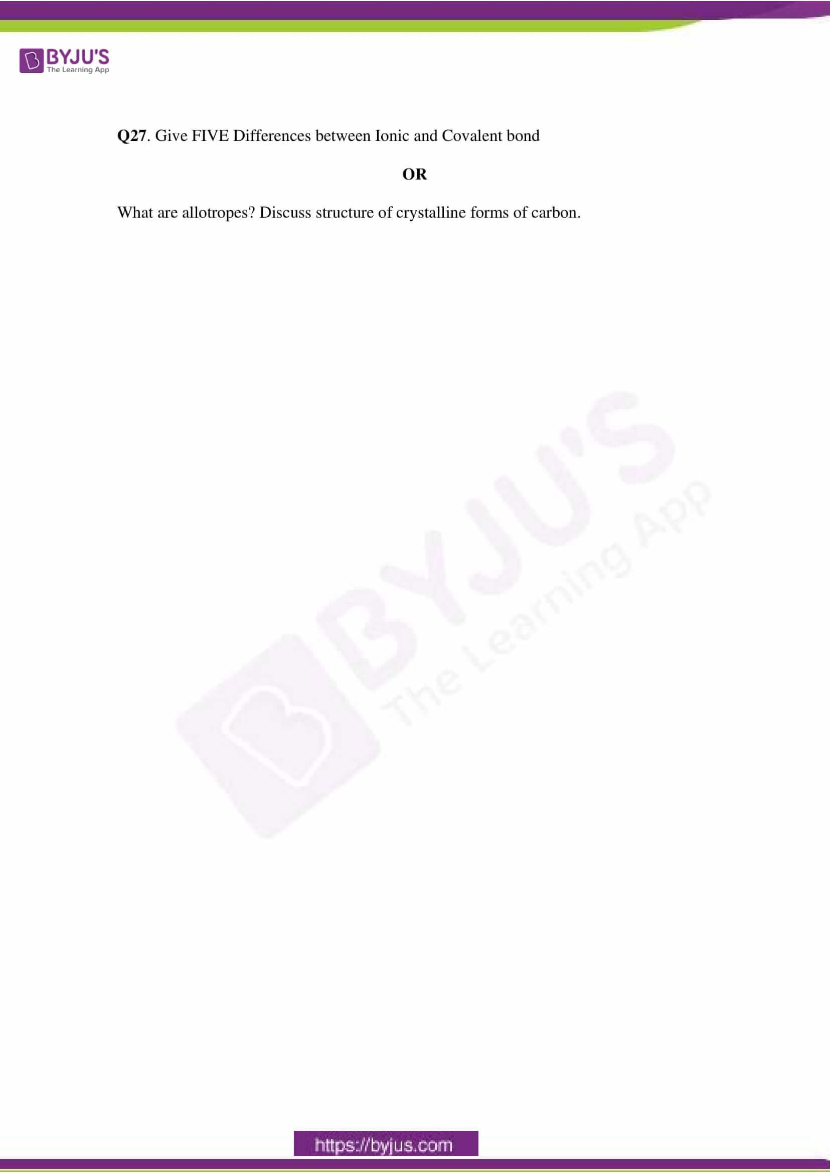 cbse class 11 che sample paper set 1