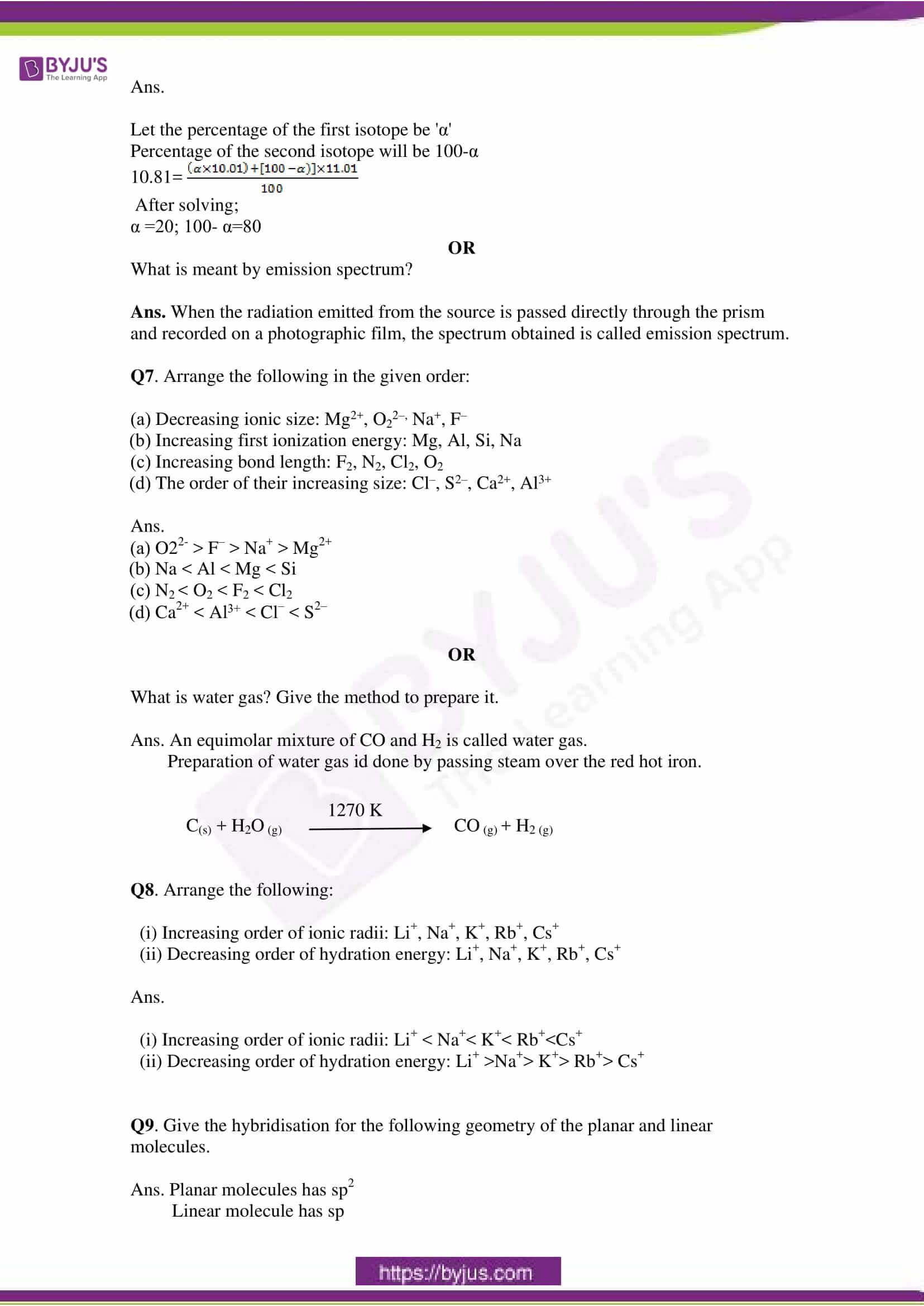 cbse class 11 che sample paper set 2 solution