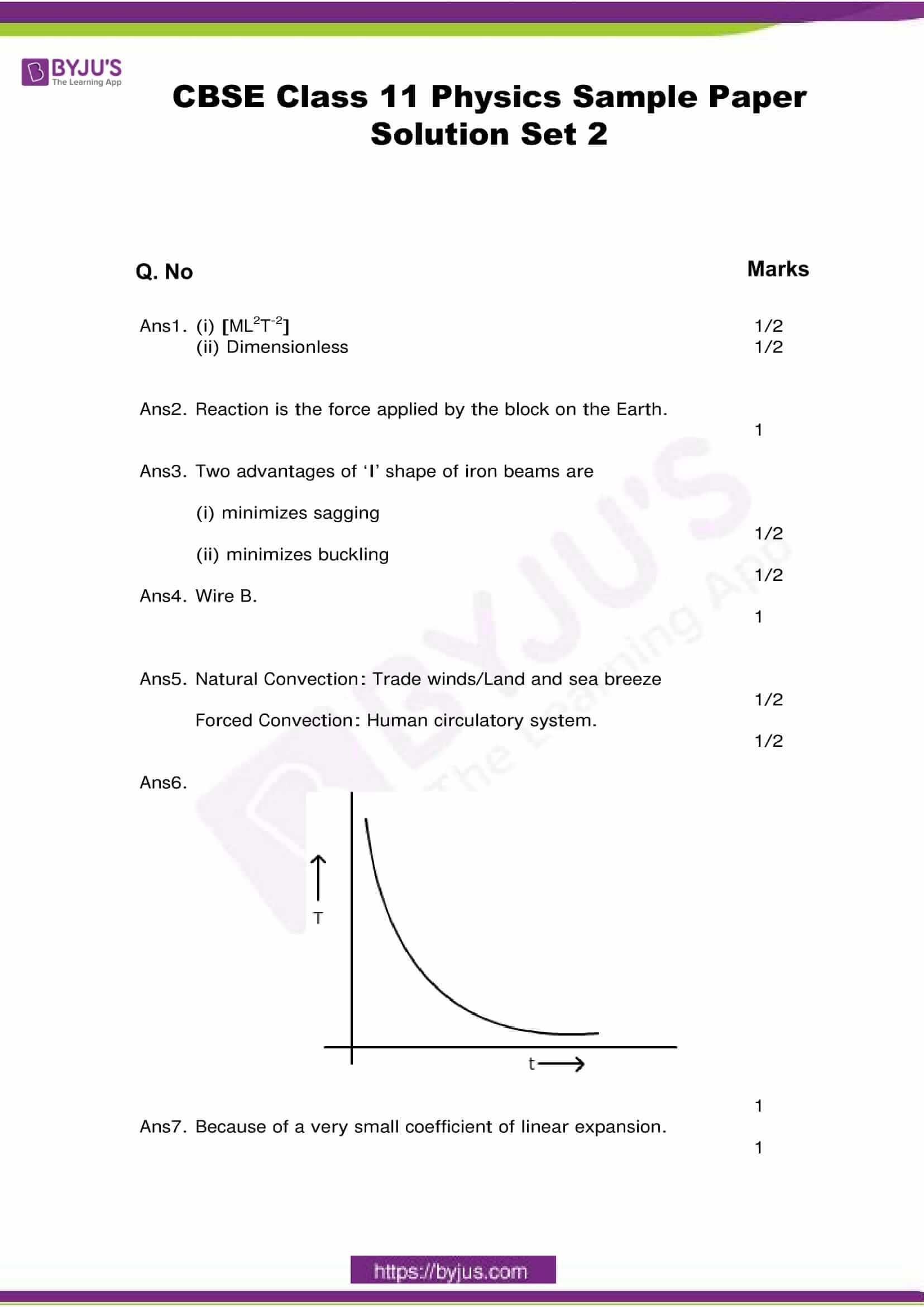 cbse class 11 phy sample paper set 2 solution