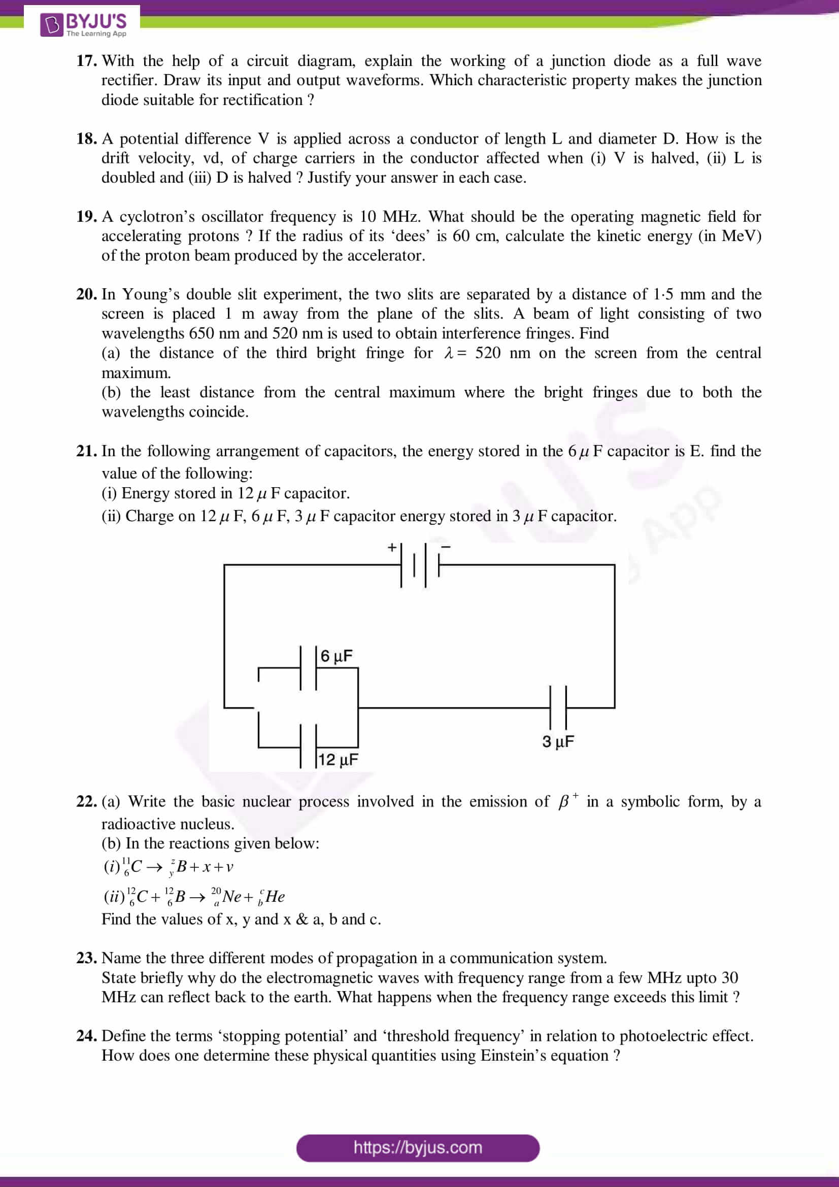 cbse class 12 physics sample paper set 3
