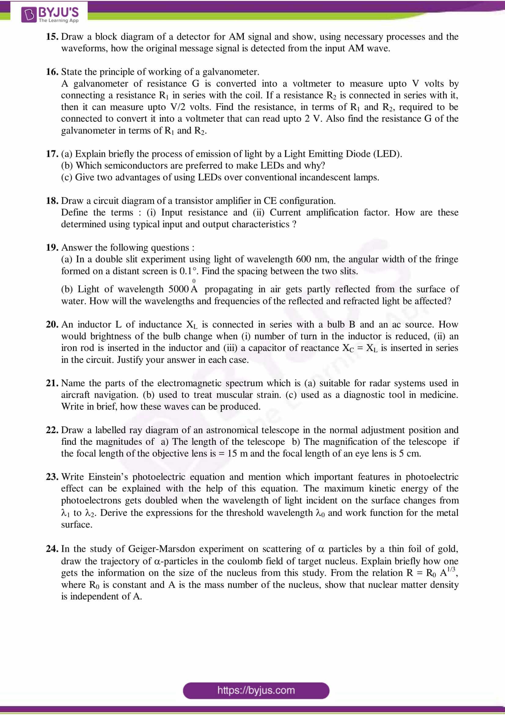 cbse class 12 physics sample paper set 4