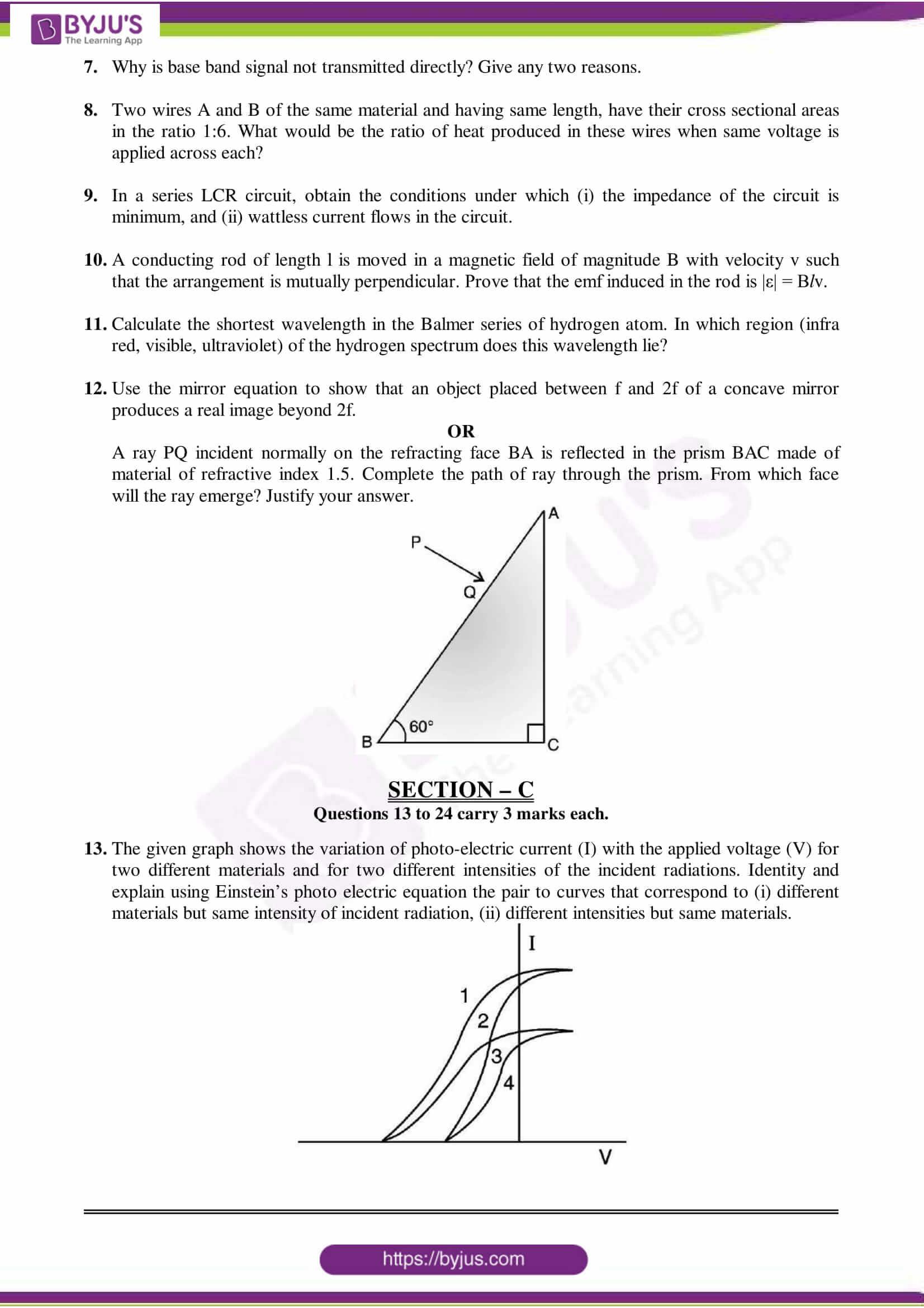 cbse class 12 physics sample paper set 6