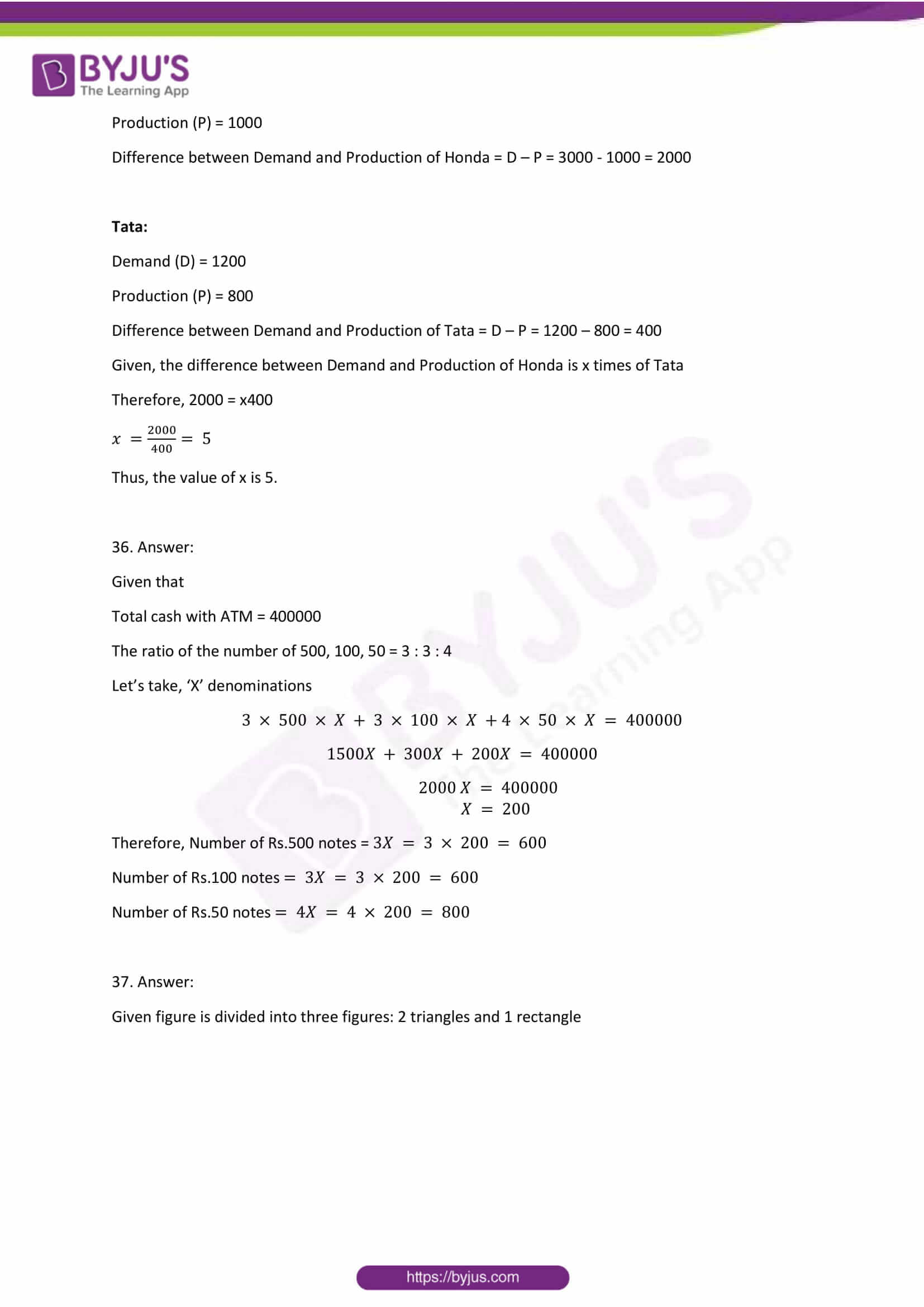 cbse class 8 maths sample paper set 1 solution