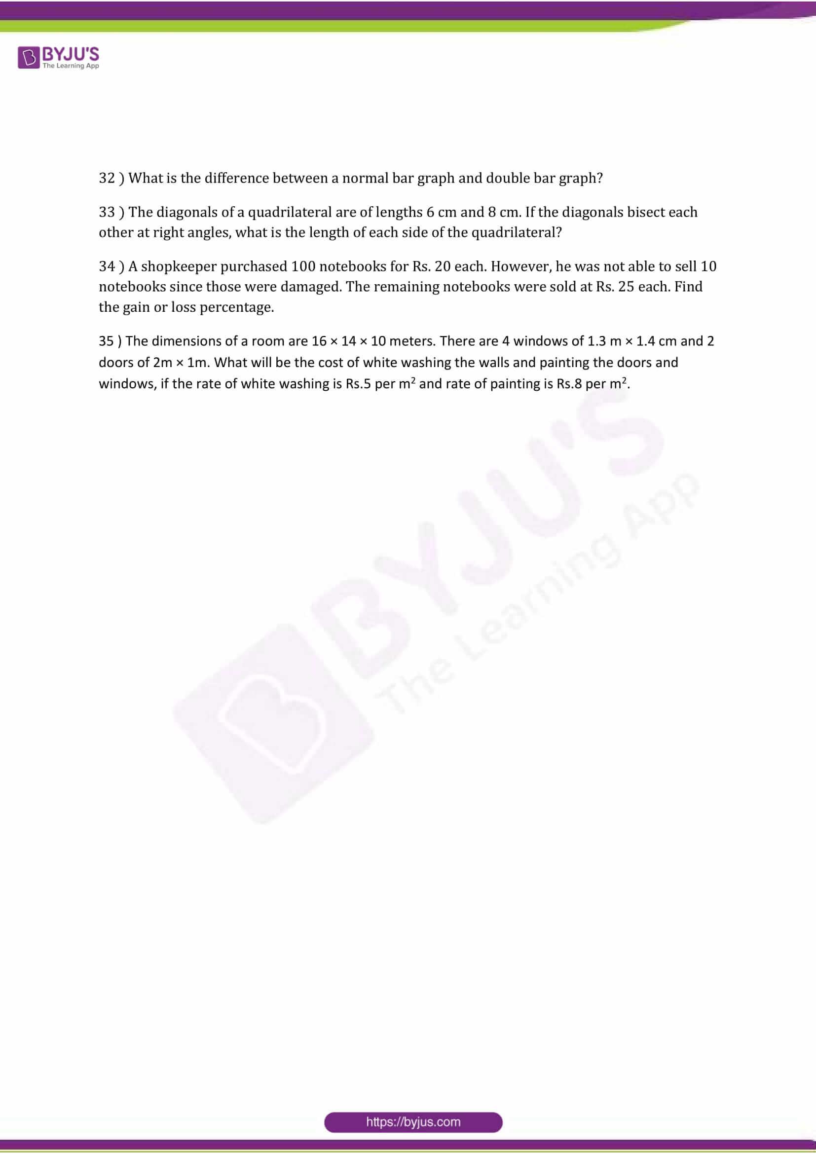 cbse class 8 maths sample paper set 5