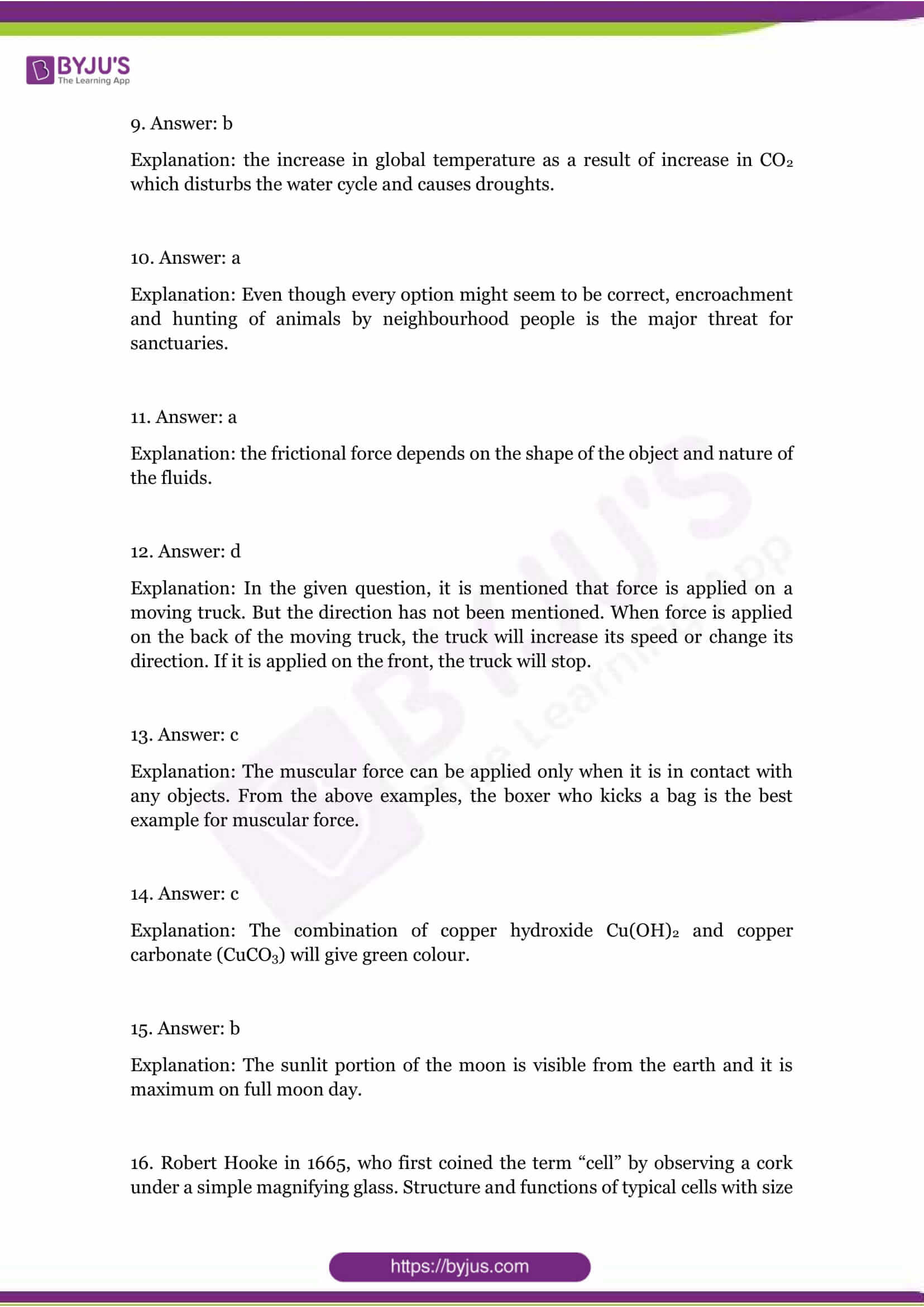 cbse class 8 science sample paper set 1 solution