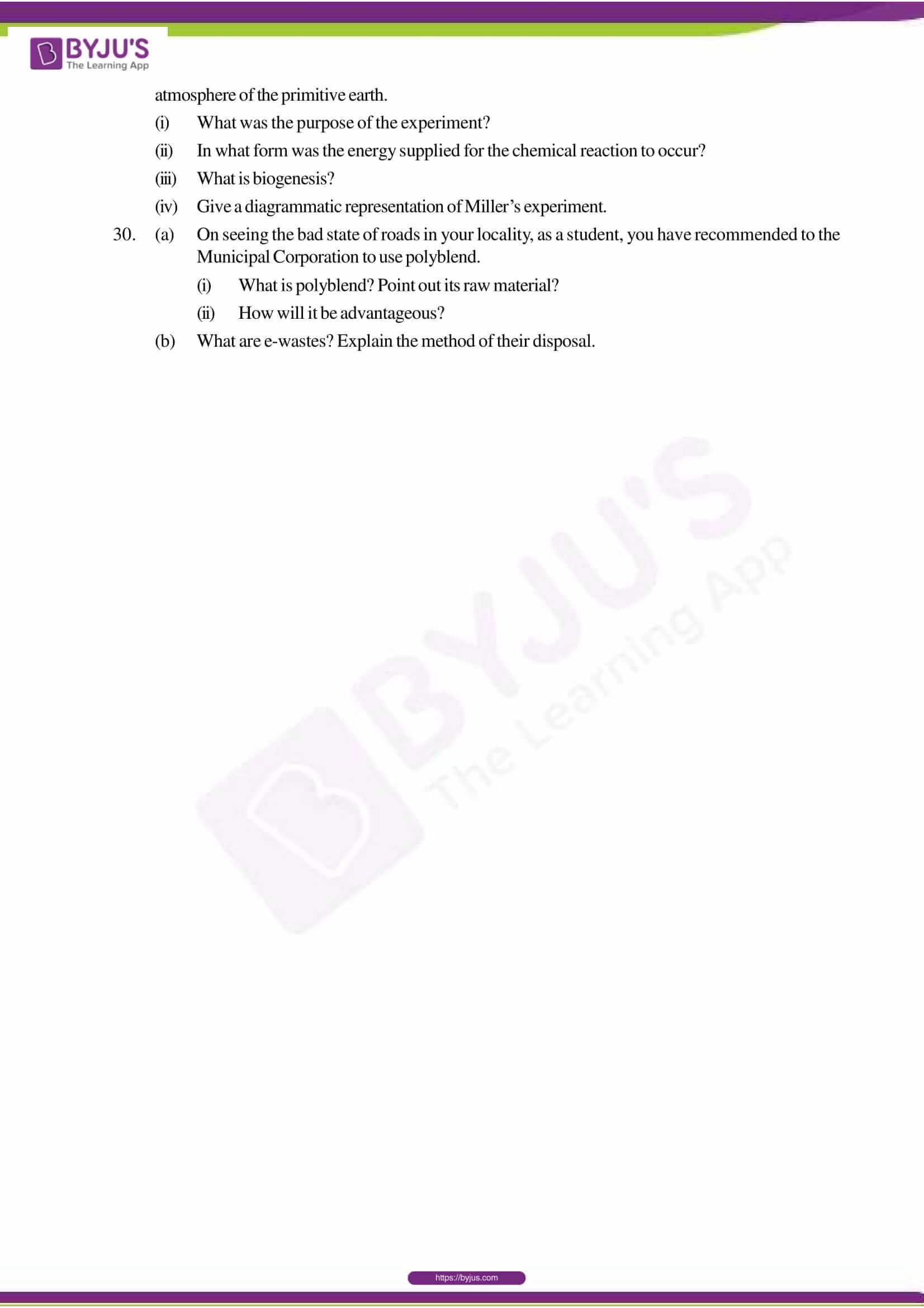 cbse sample paper class 12 biology set 1