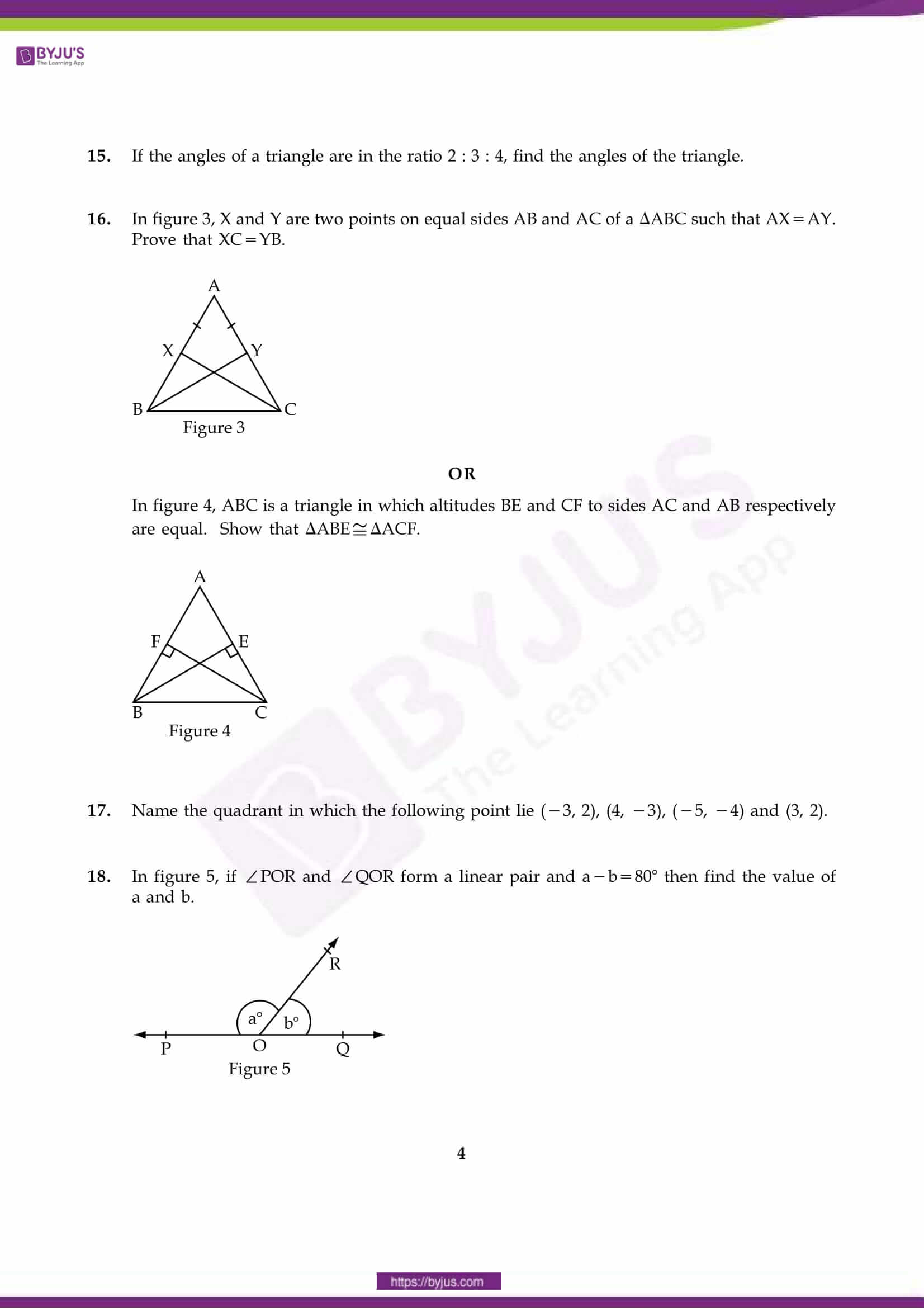 cbse sample paper class 9 maths set 9